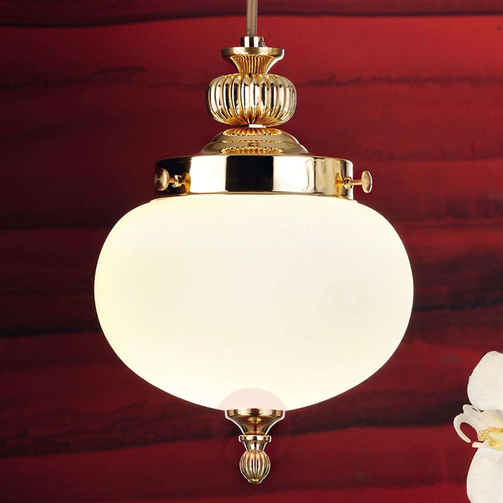 1-bulb Ophelia glass pendant light-7255223-01