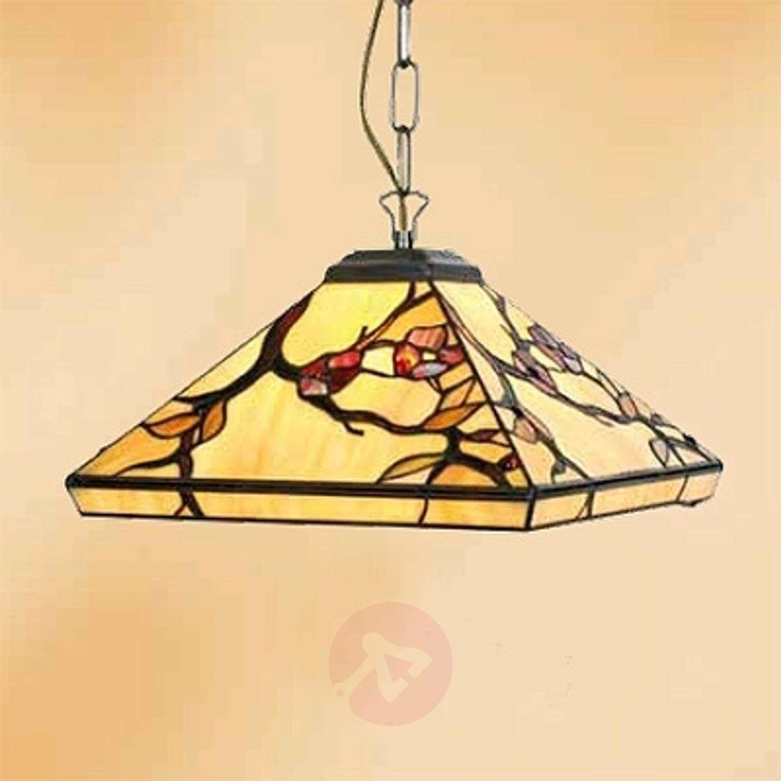 1-bulb ornate hanging light Juliett, Tiffany style-1032285-01