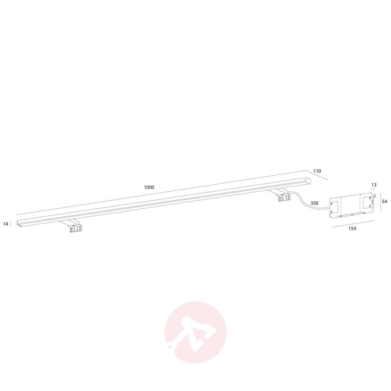100 cm wide LED mirror lamp Esther-3052055-03