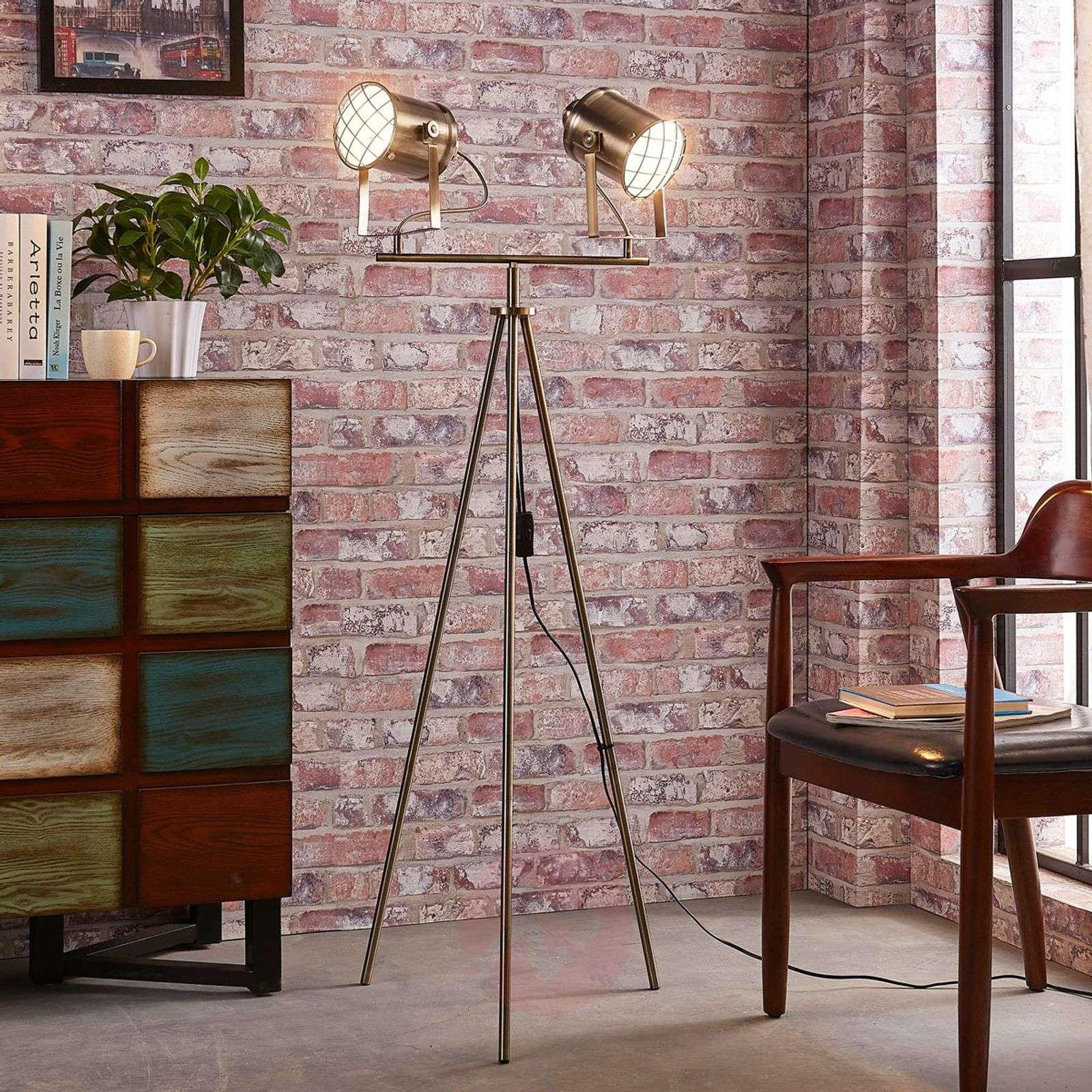 2-bulb floor lamp Ebbi made from metal-9621233-02