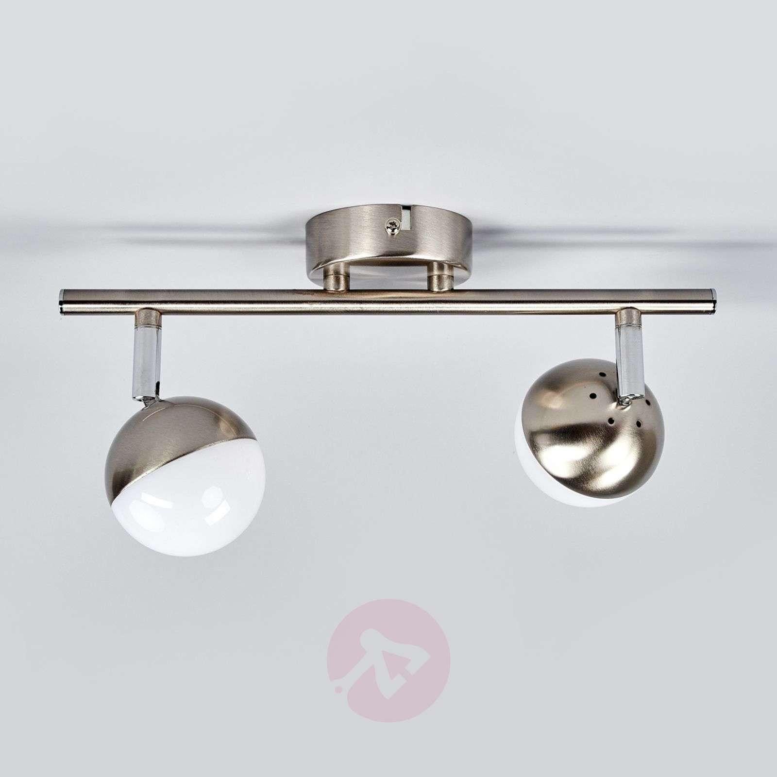 2-bulb LED spotlight Jonne, matt nickel-9987056-04