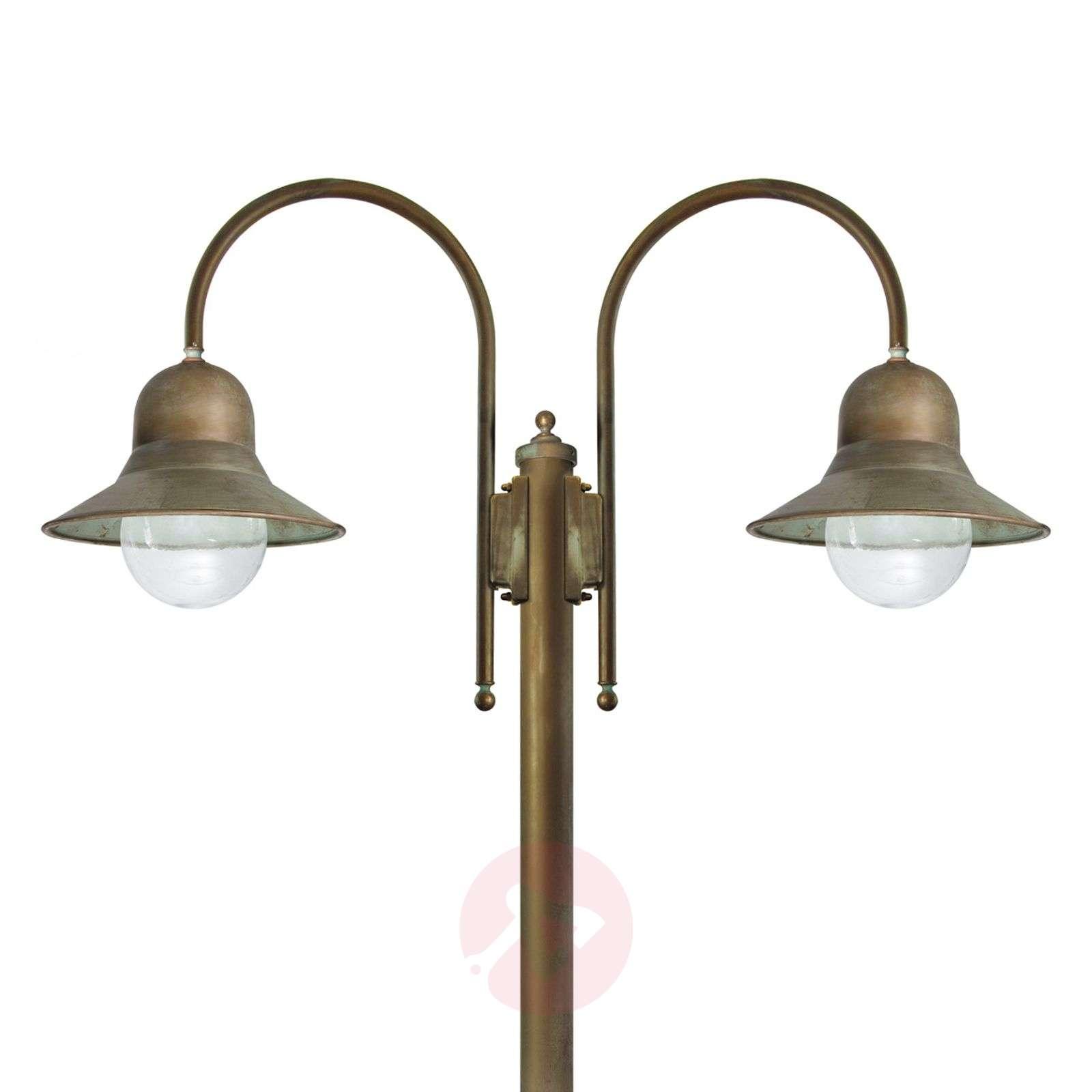 2-bulb post light Felizia, antique brass-6515297-01