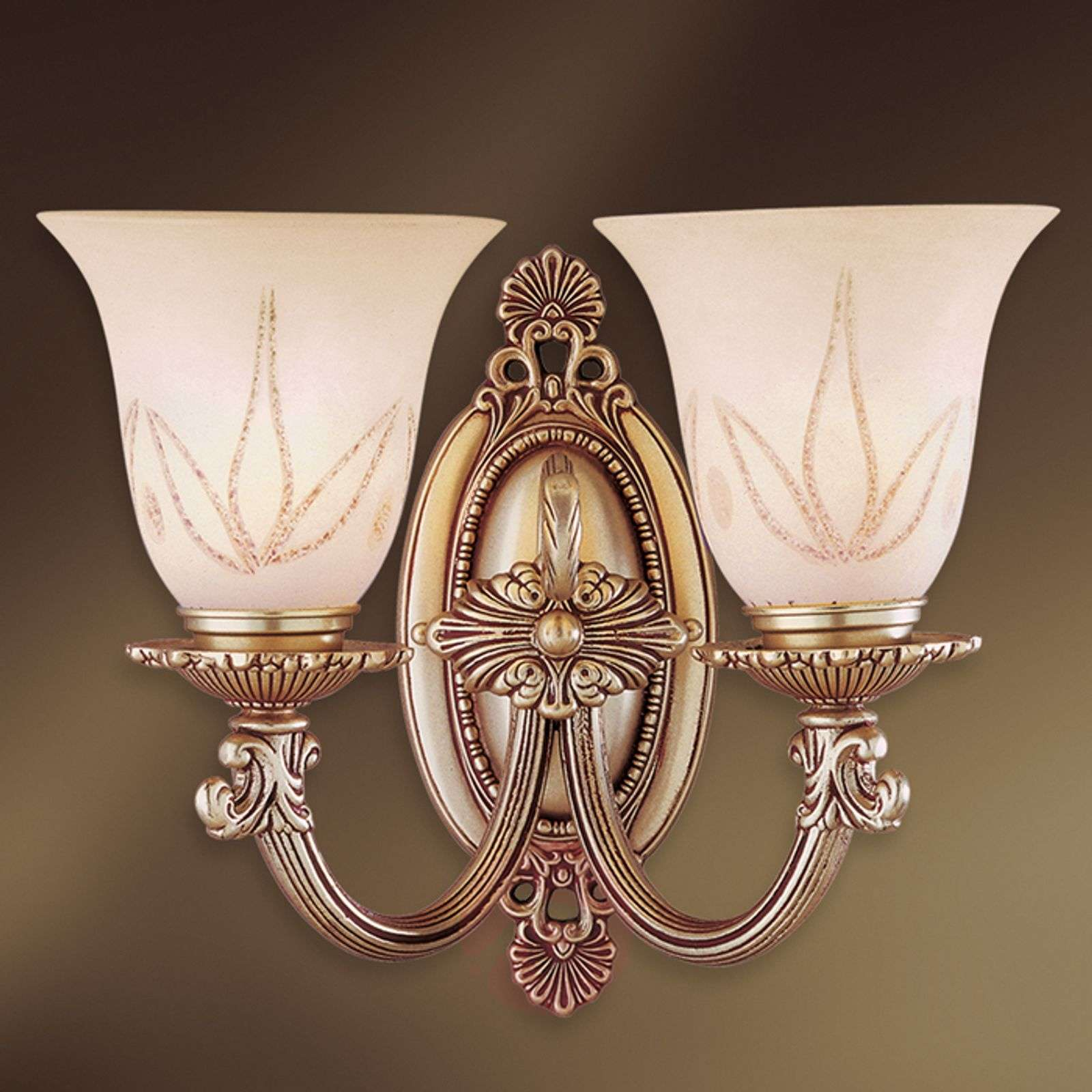 2-bulb wall lamp Estrella with glass lampshades-8023209-01