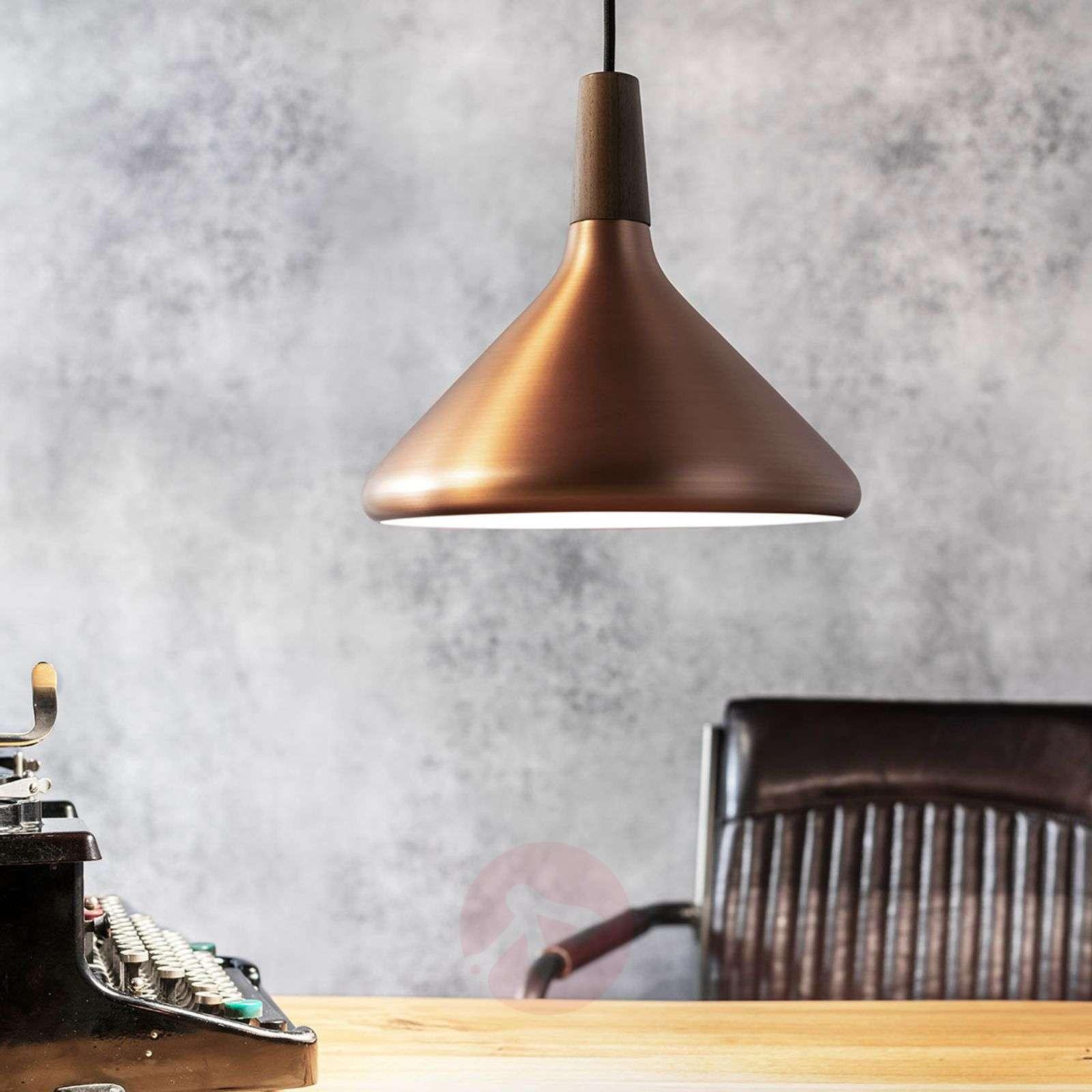 27 cm copper coloured pendant lamp Float-7005902-03
