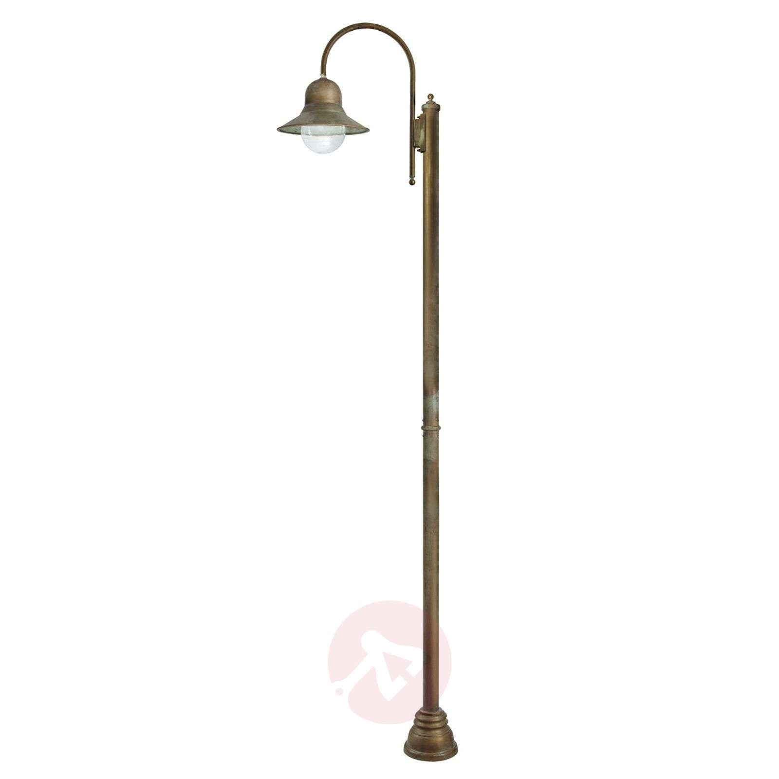 270 cm tall post light Felizia in antique brass-6515296-01