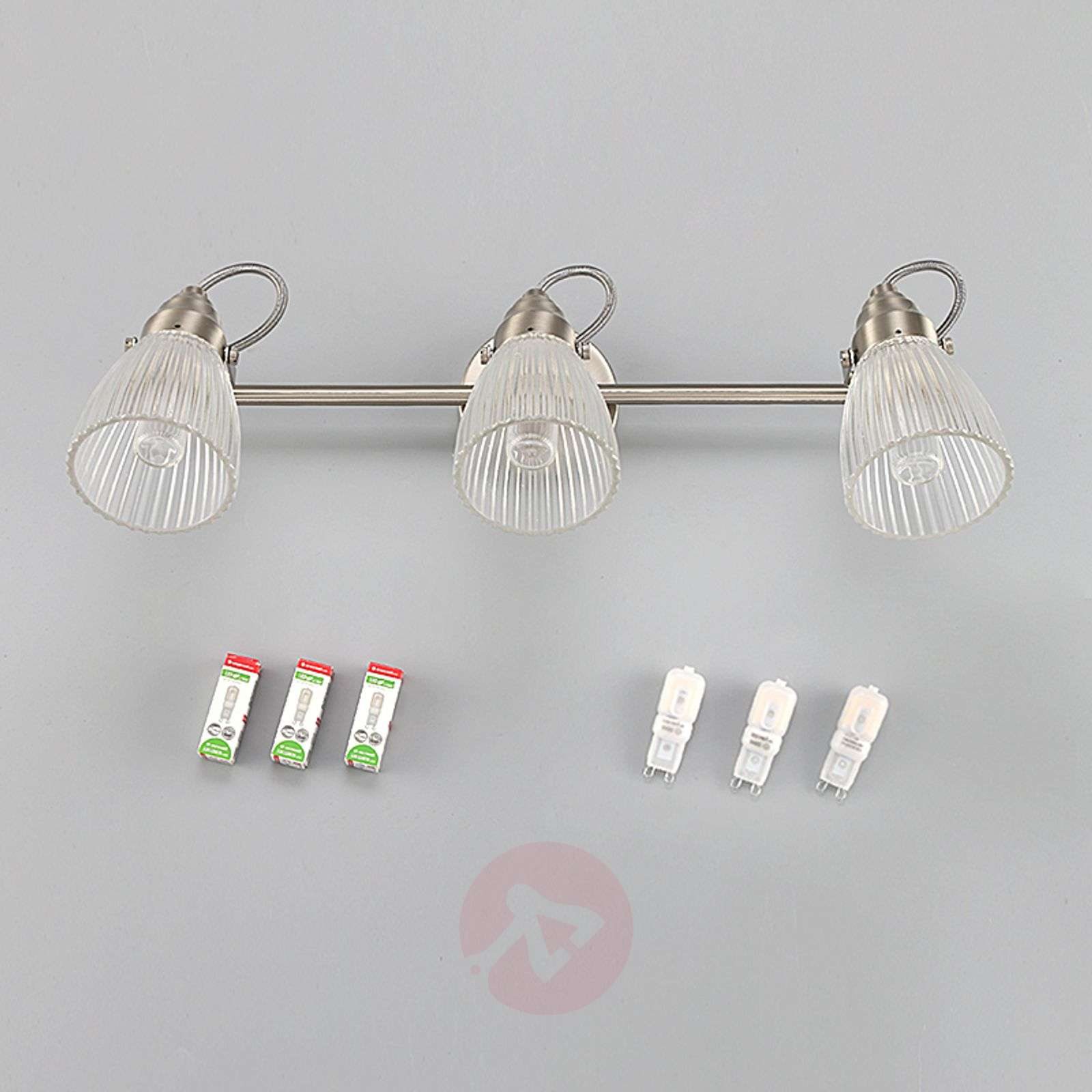 3-bulb bathroom ceiling light Kara with G9 LEDs-9620683-010