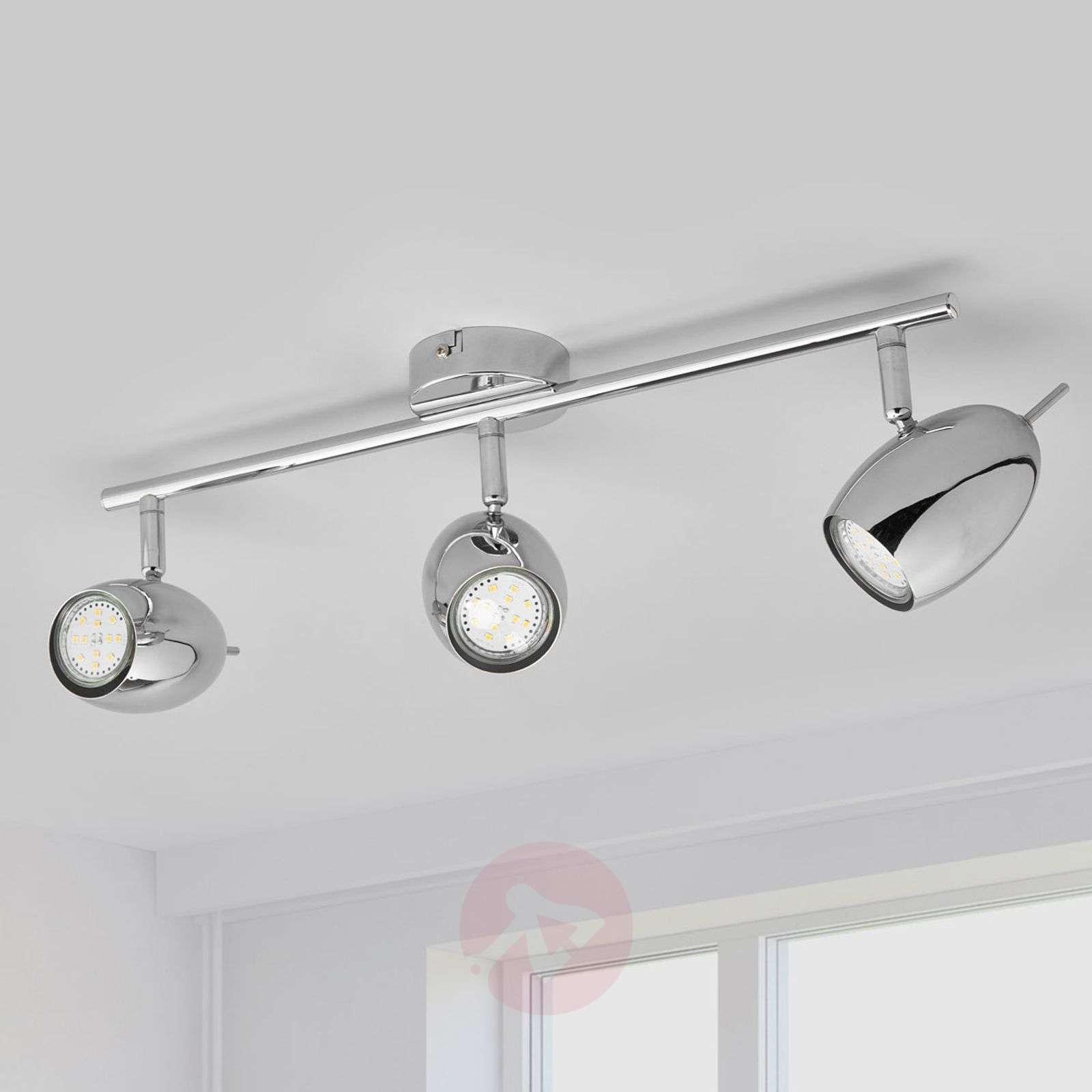 3-bulb LED ceiling lamp Philippa, chrome-plated-9970124-02