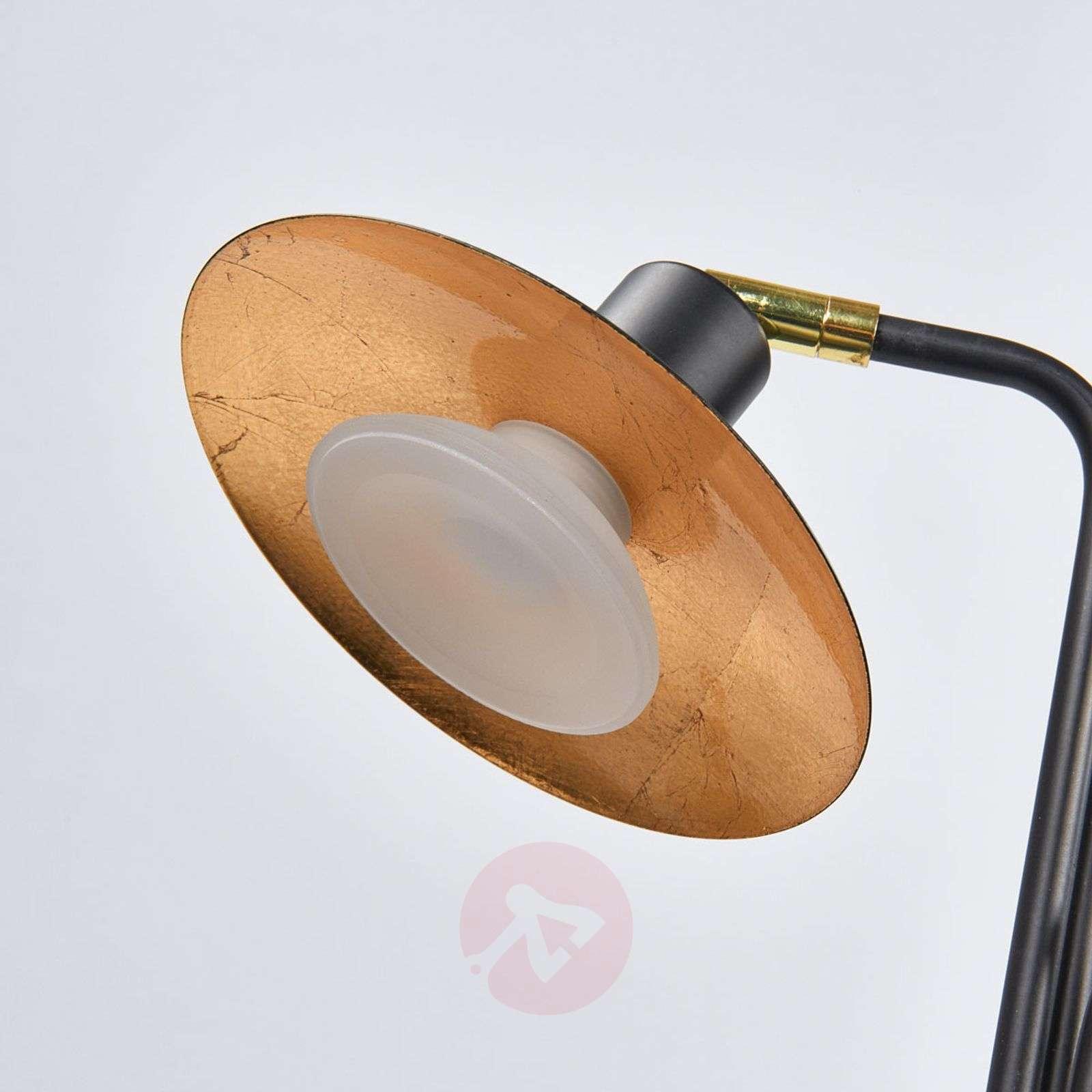 3-bulb LED floor lamp Andrej, black-gold-9634041-011