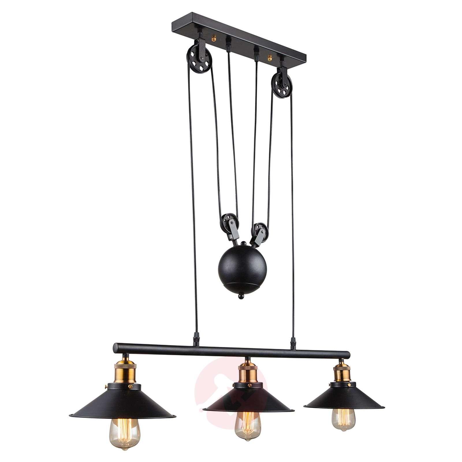 3-bulb pendant light Viktor height-adjustable-4014869-02