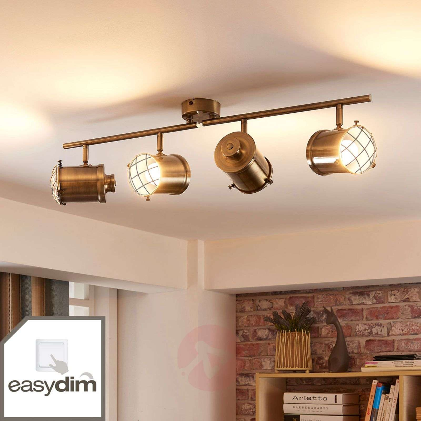 4-bulb LED ceiling light Ebbi, Easydim-9621231-02