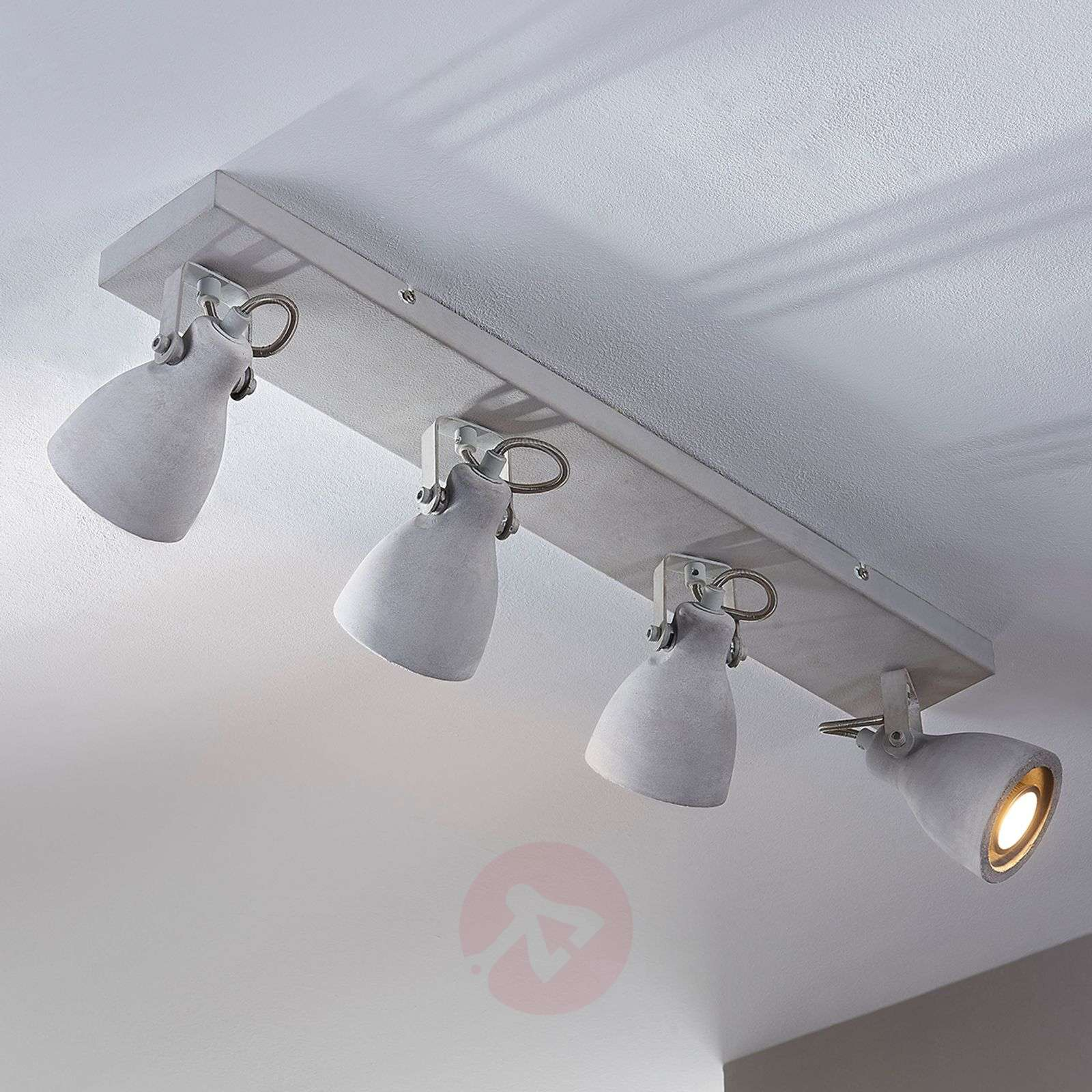 in concrete lighting. Interesting Concrete 4bulb LED Concrete Ceiling Lamp Kadiga962067802 Intended In Concrete Lighting