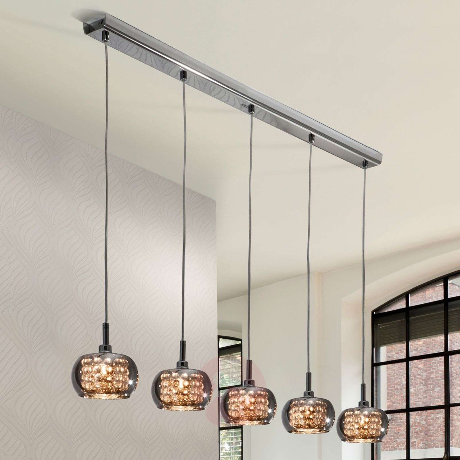 5-bulb glass hanging light Arian-8582269-01