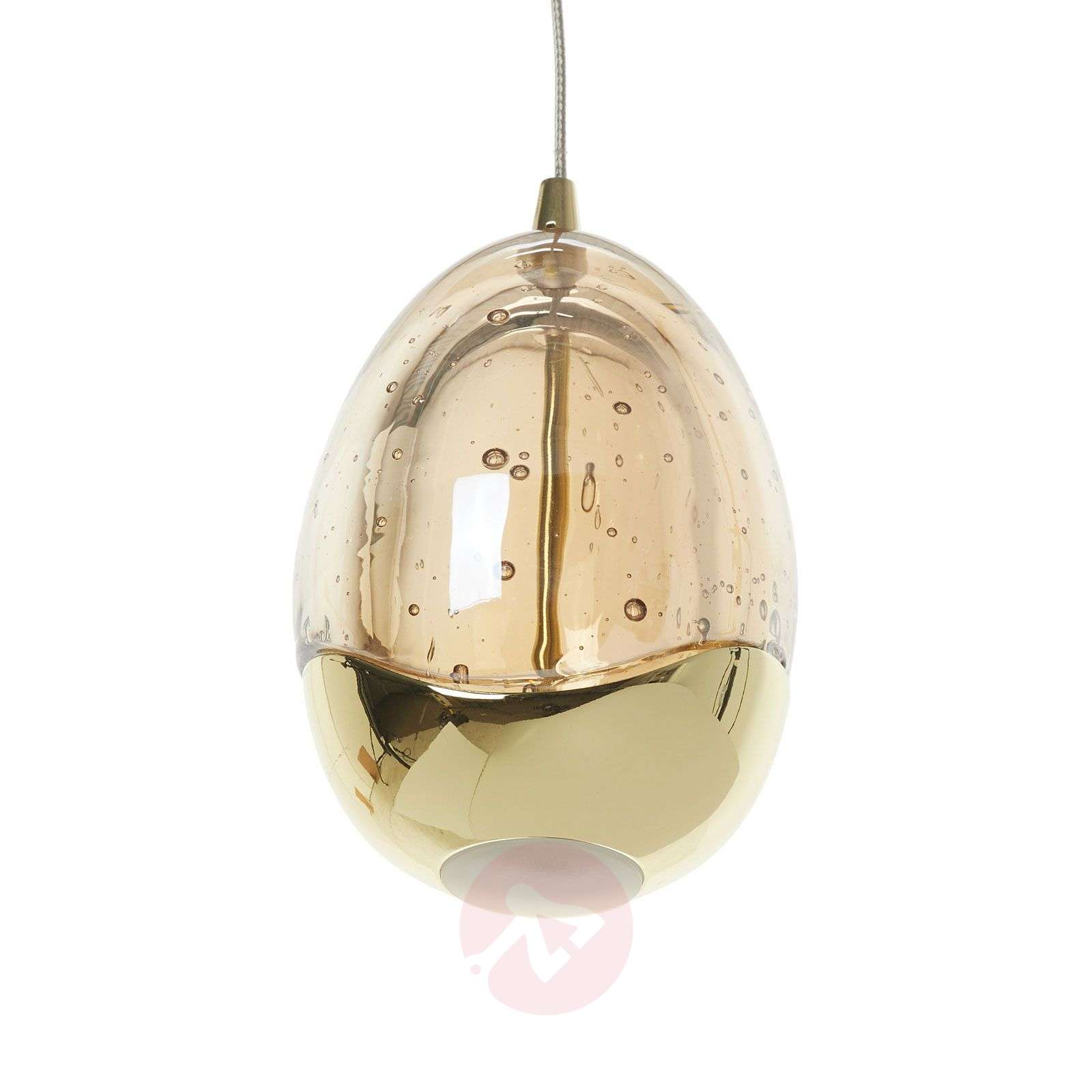 5-light, gold-coloured LED hanging light Rocio-8582203-01