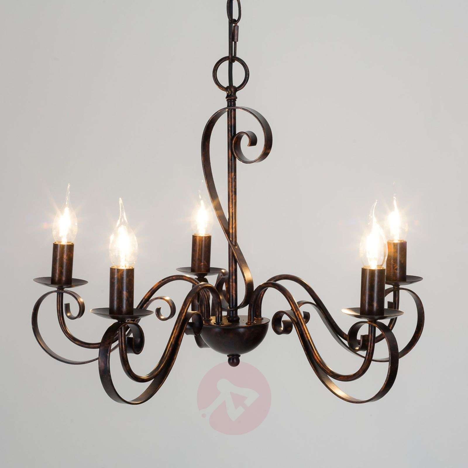 5 light rust coloured chandelier caleb lights 5 light rust coloured chandelier caleb 9620530 01 aloadofball Image collections