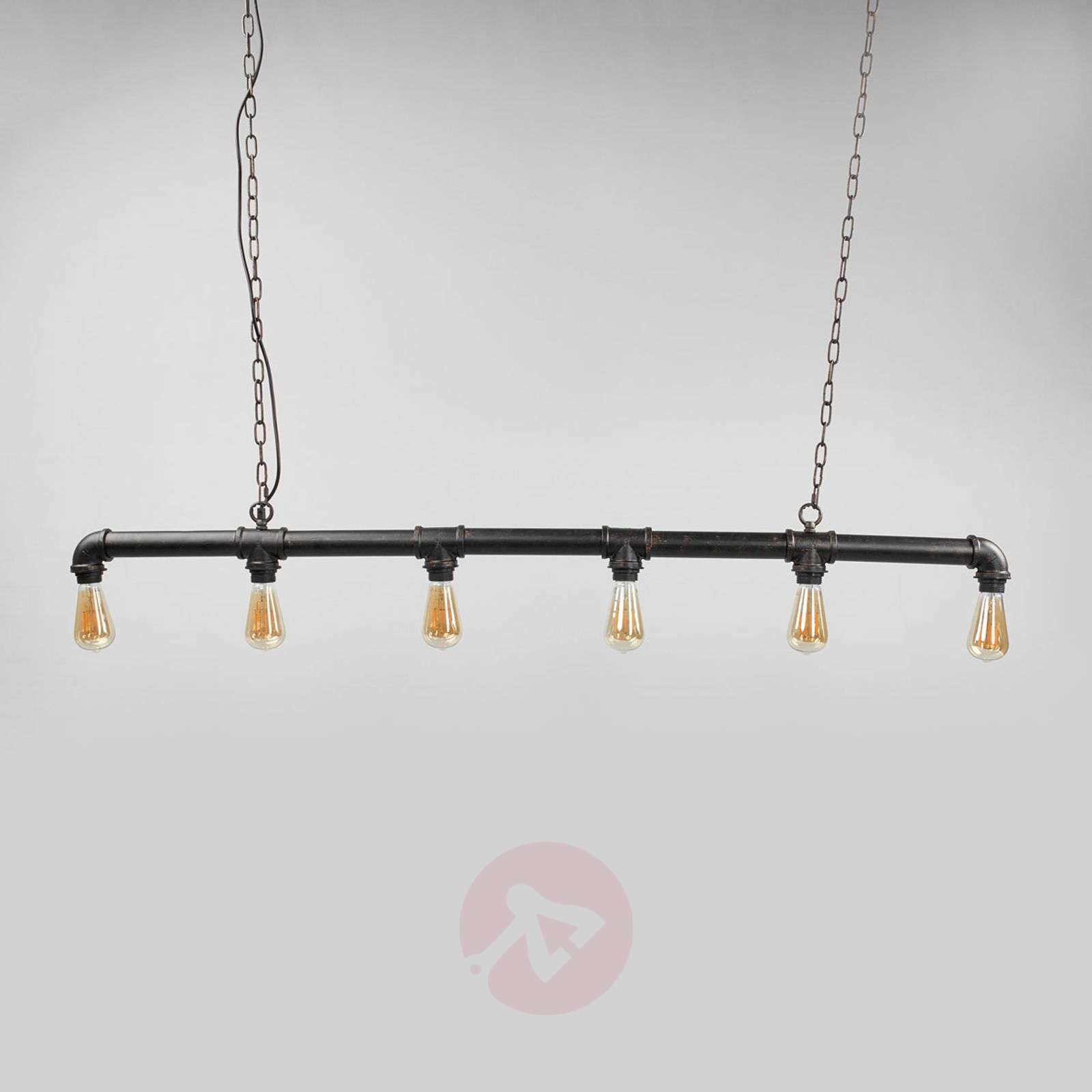 6-bulb Tap hanging light in water pipe form-9634051-02