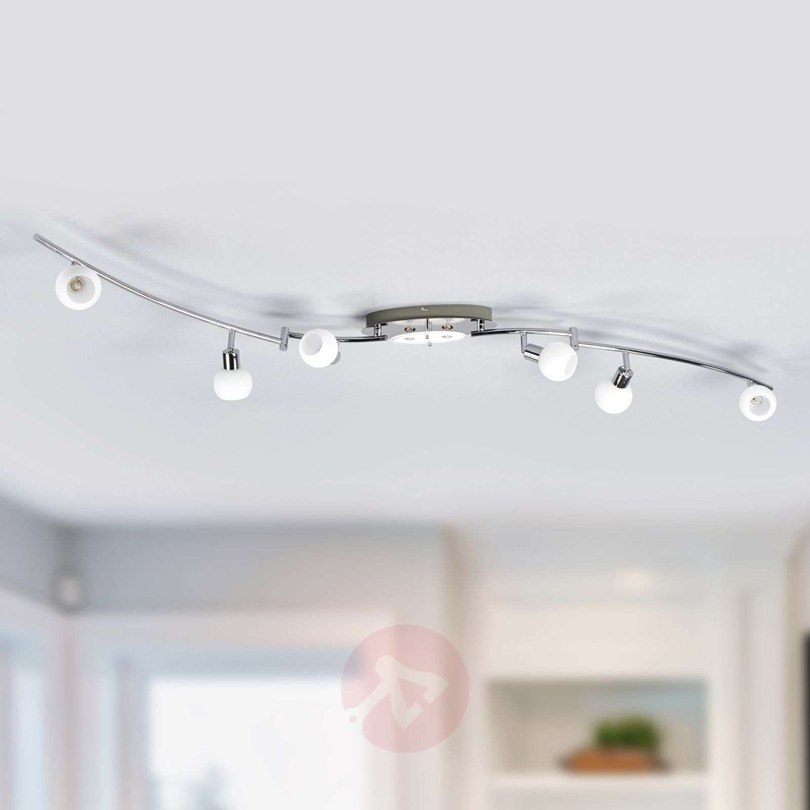8-bulb LED ceiling light Evaletta, G9 lamps-9994093-02