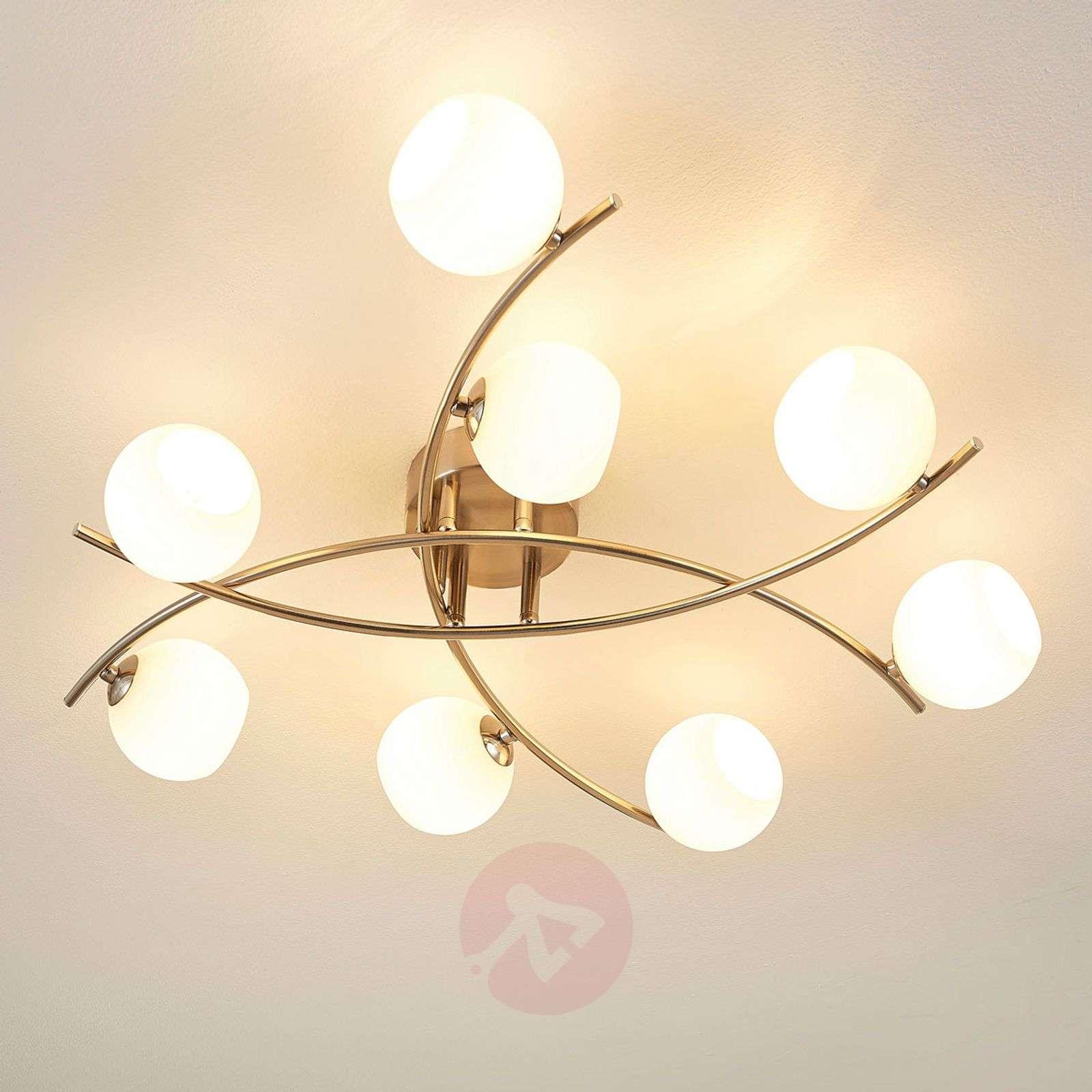 8-light ceiling light Muriel with opal glass-9620570-01