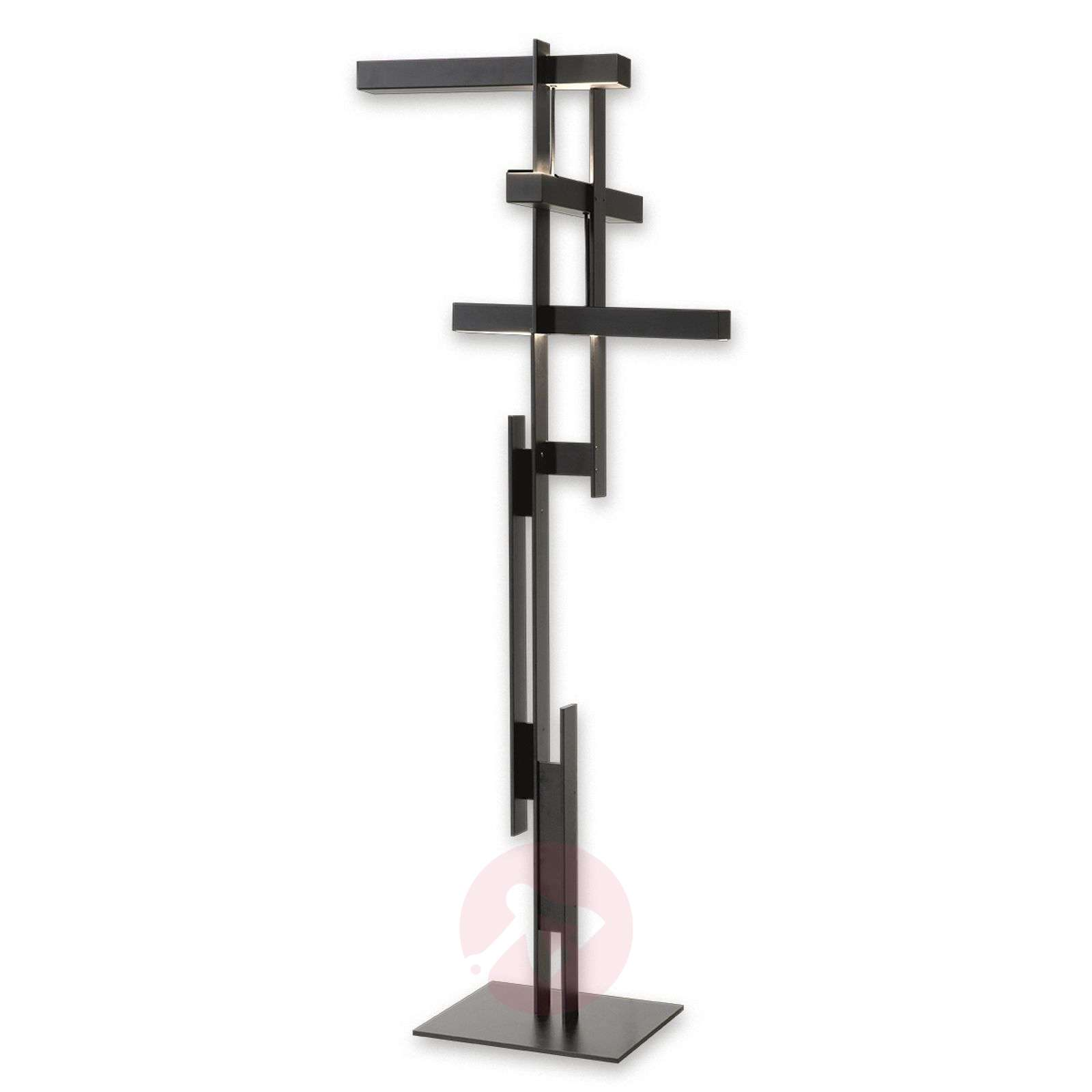 Abstract LED floor lamp Las in matt black-7265094-01