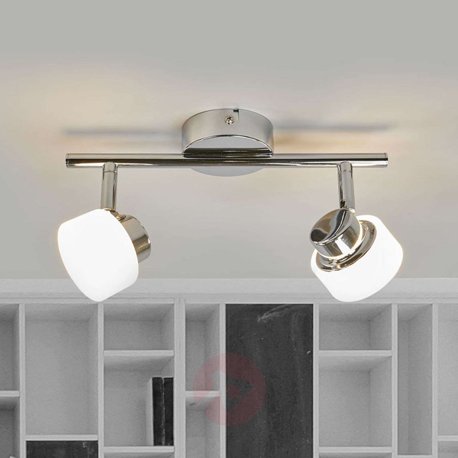 Adjustable LED ceiling lamp Shia, chrome-plated-9954007-01