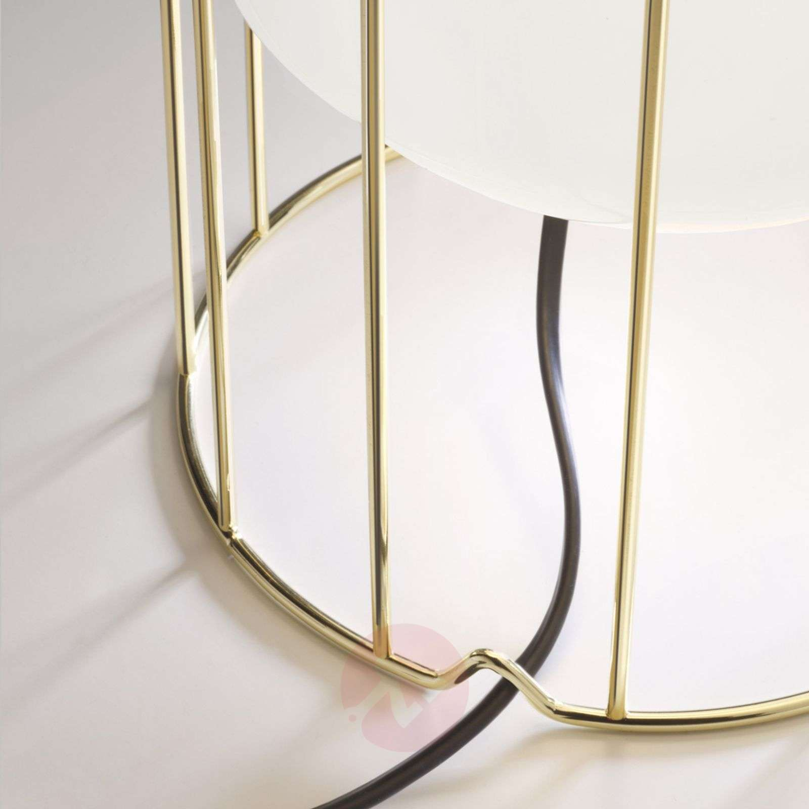 Aérostat designer table lamp with brass base-3503249X-01