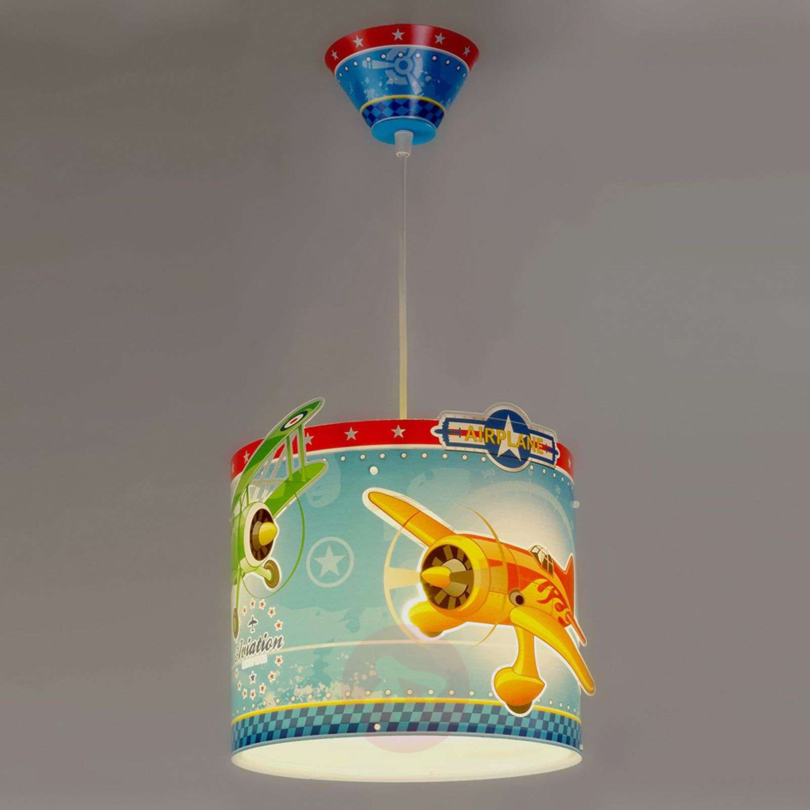 Airplane pendant light with airplanes-2507284-01