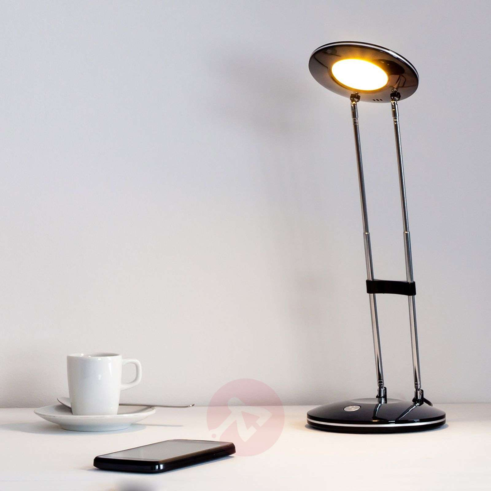 Almina Classical Modern LED Desk Lamp, Black-9643010-01
