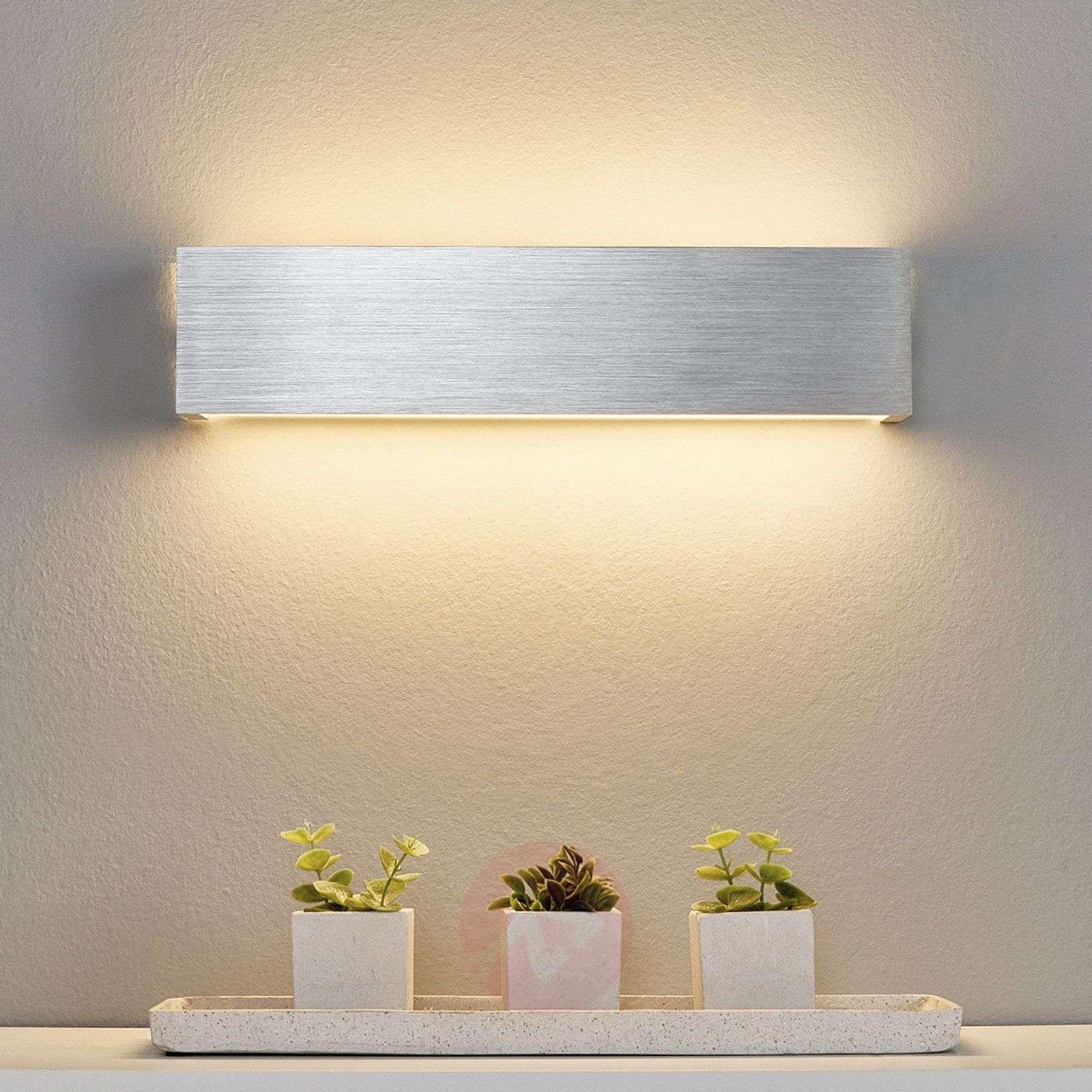 Aluminium-coloured LED wall light Ranik-9625048-01