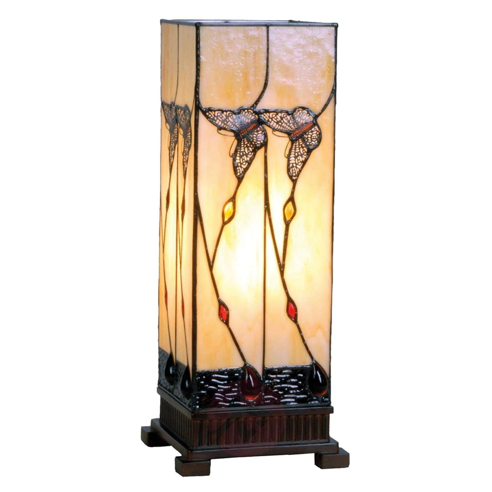 Amber-coloured table lamp Amberly 45 cm-6064087-01