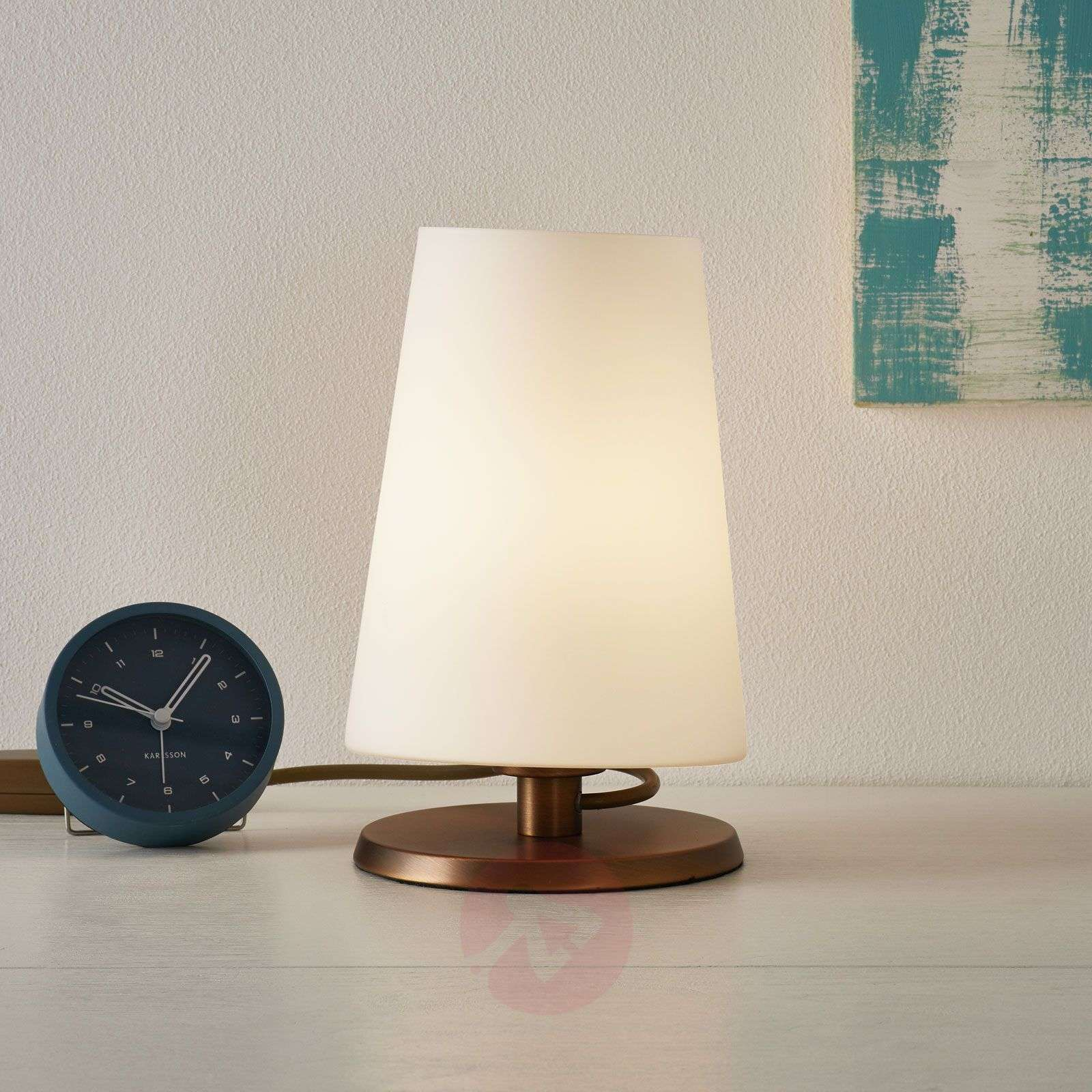 Ancilla table lamp with bronze touch dimmer-8509745-01