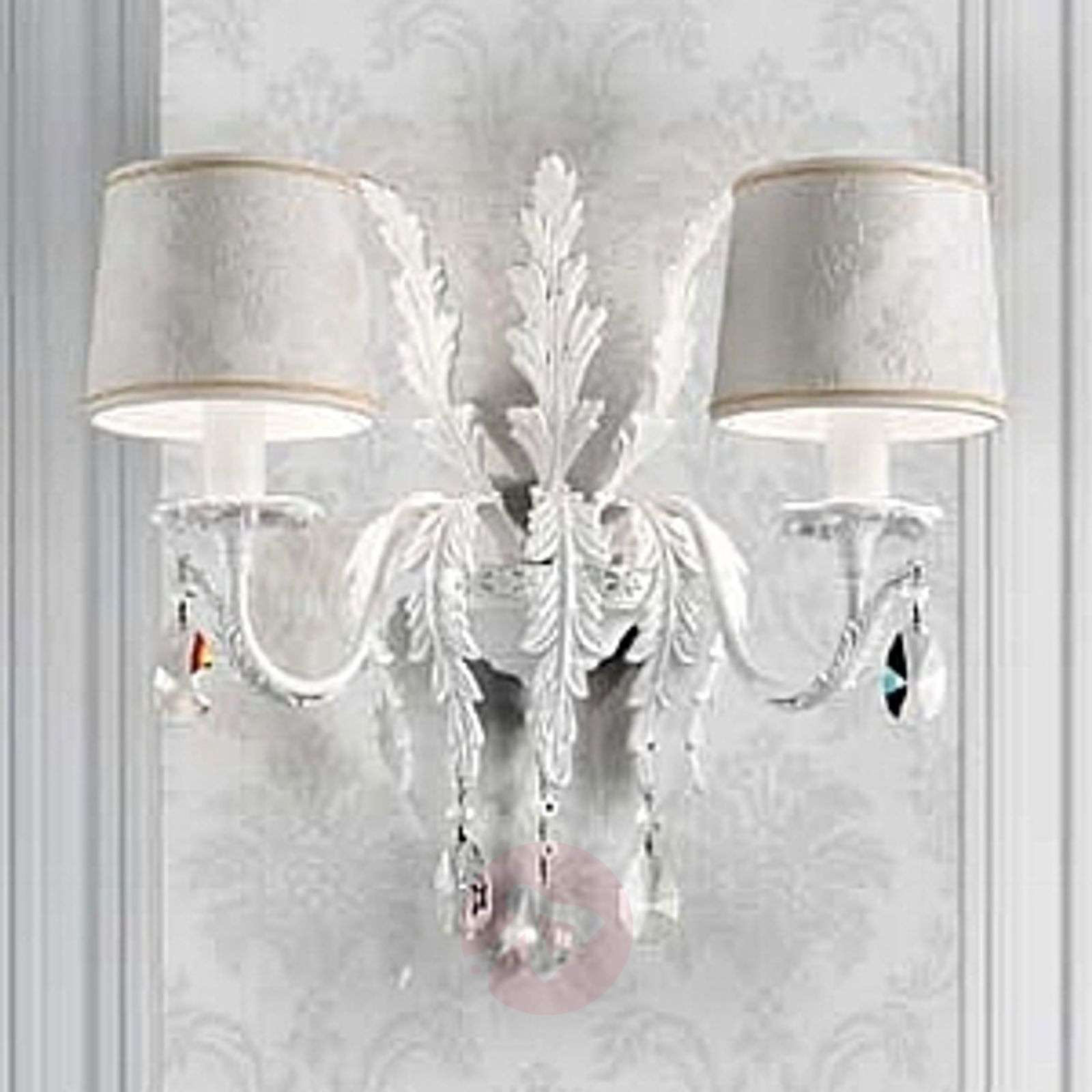 Angelis white wall light with Asfour crystals-6517134-01
