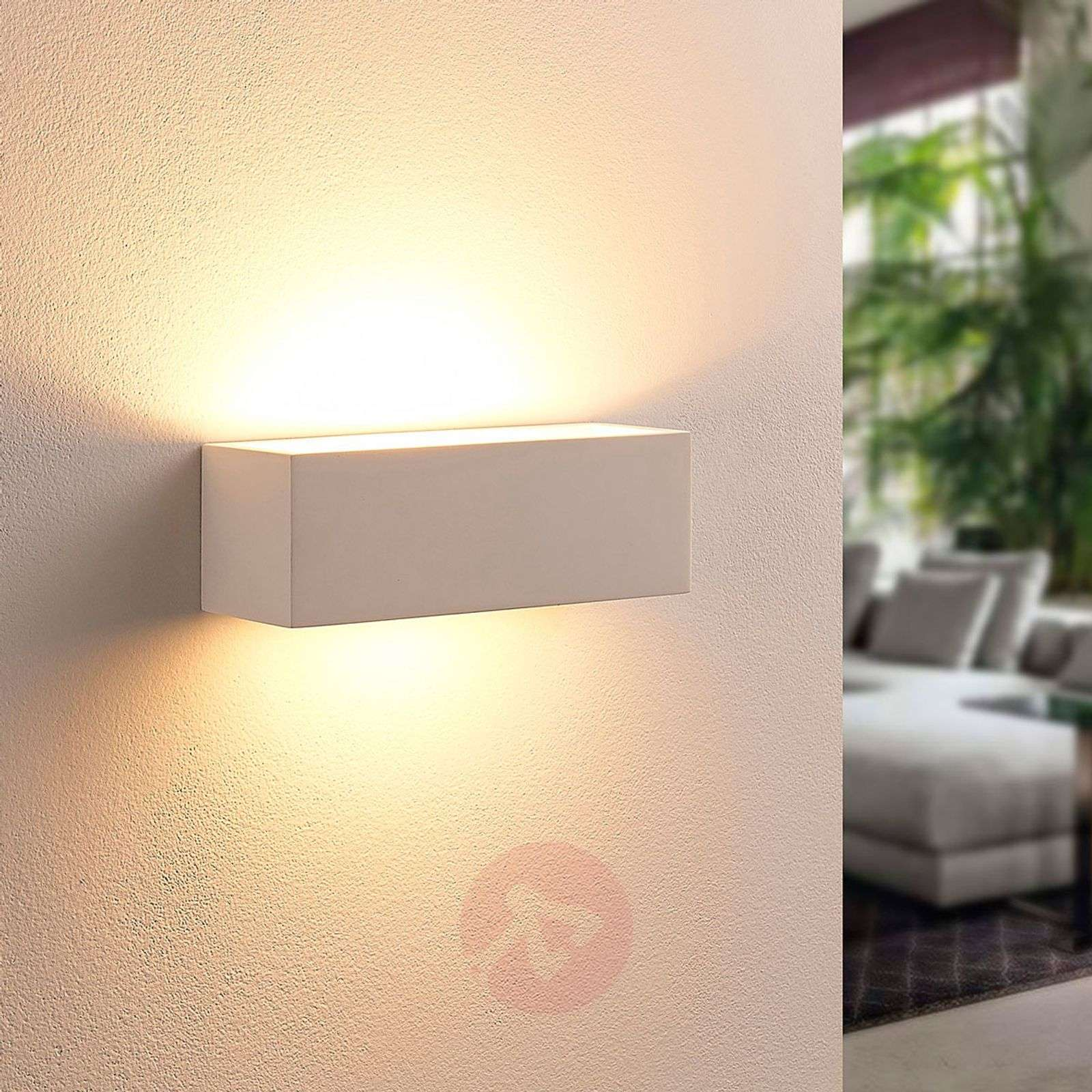 Angular LED wall lamp Tjada from plaster-9621336-02