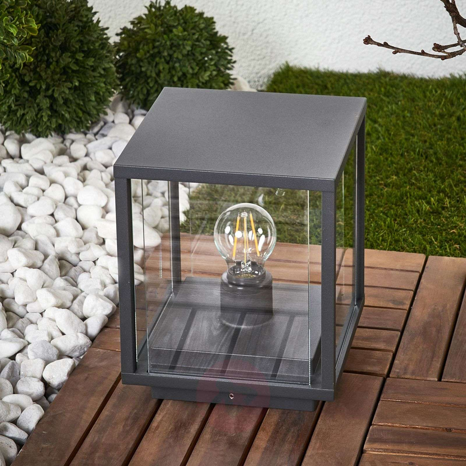 Angular pillar lamp Annalea with glass panes-9616113-01