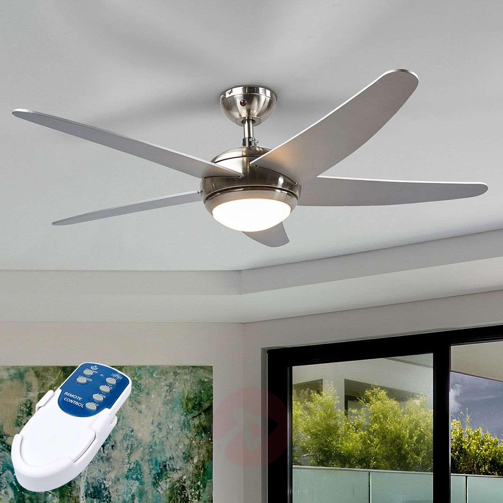 Anneka silver ceiling fan with light-4018092-010