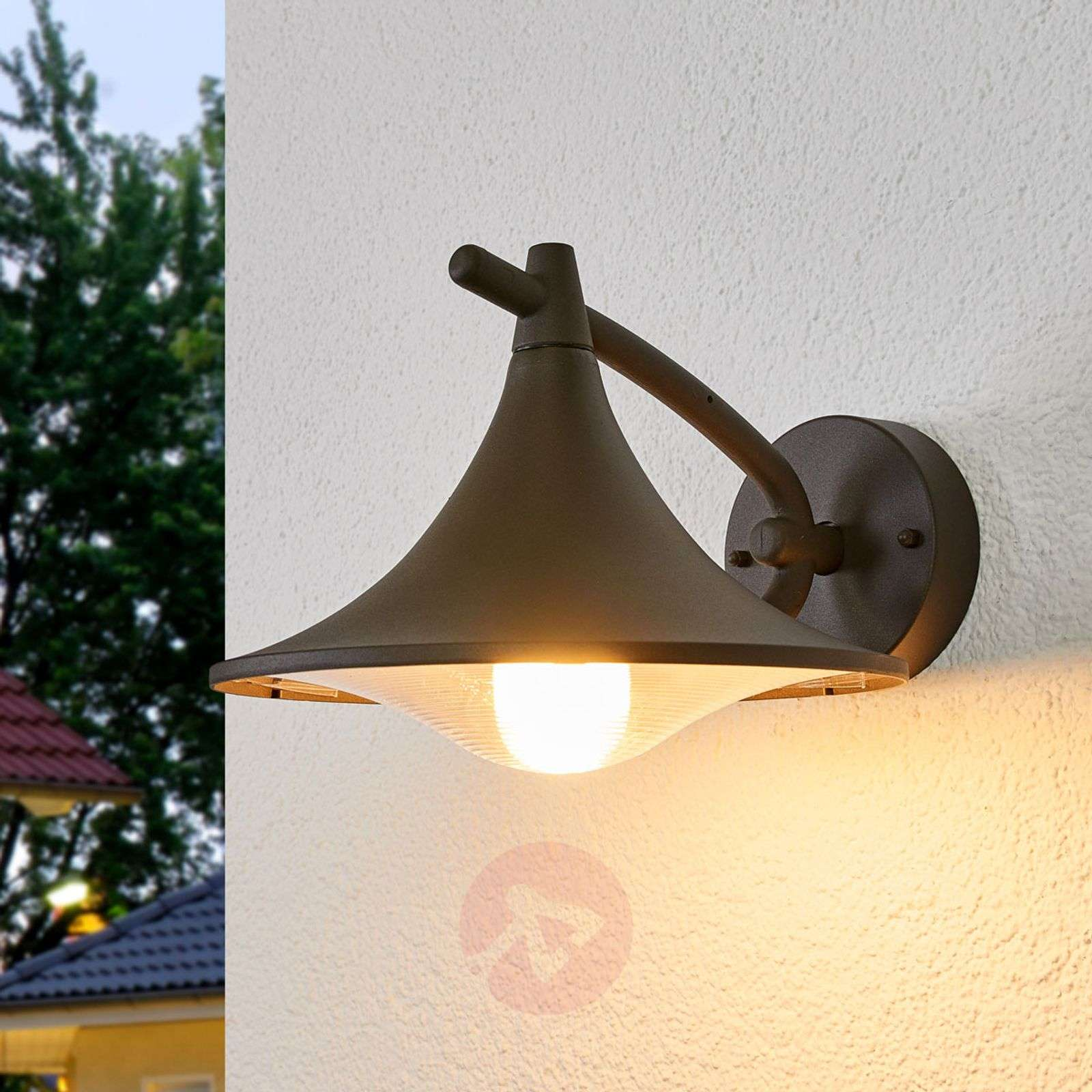 Anthracite-coloured Cedar outdoor wall light-7531783-01