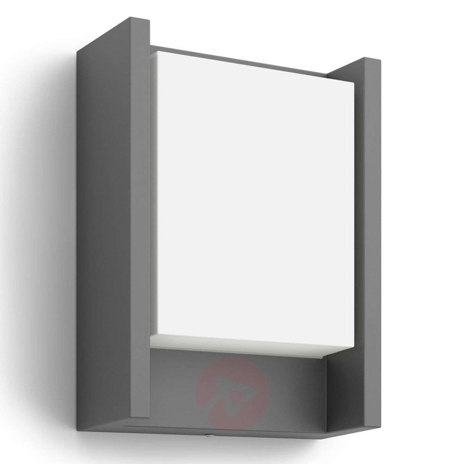 Anthracite-coloured LED outdoor wall light Arbour-7531800-01