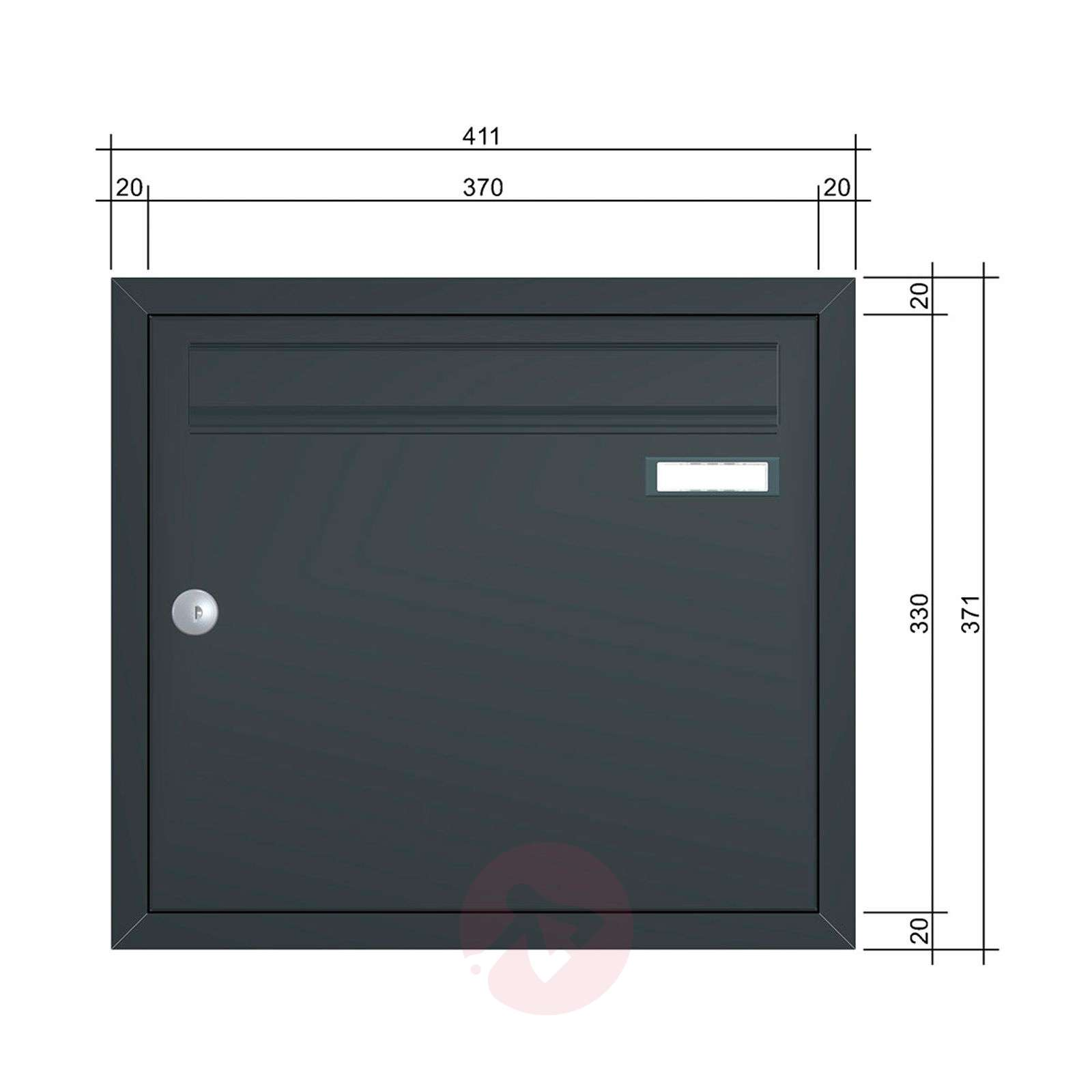 Anthracite grey letterbox Express Box Up 110-5540033-01