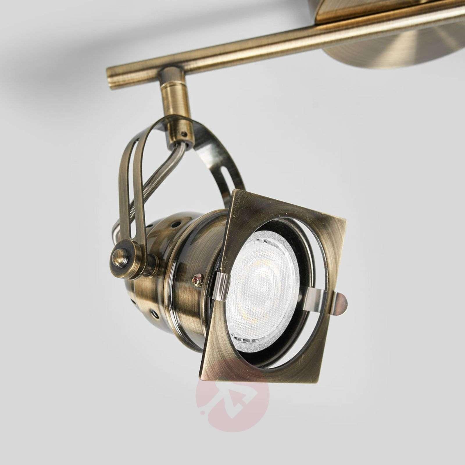 antique brass coloured led ceiling lamp janek lights ie