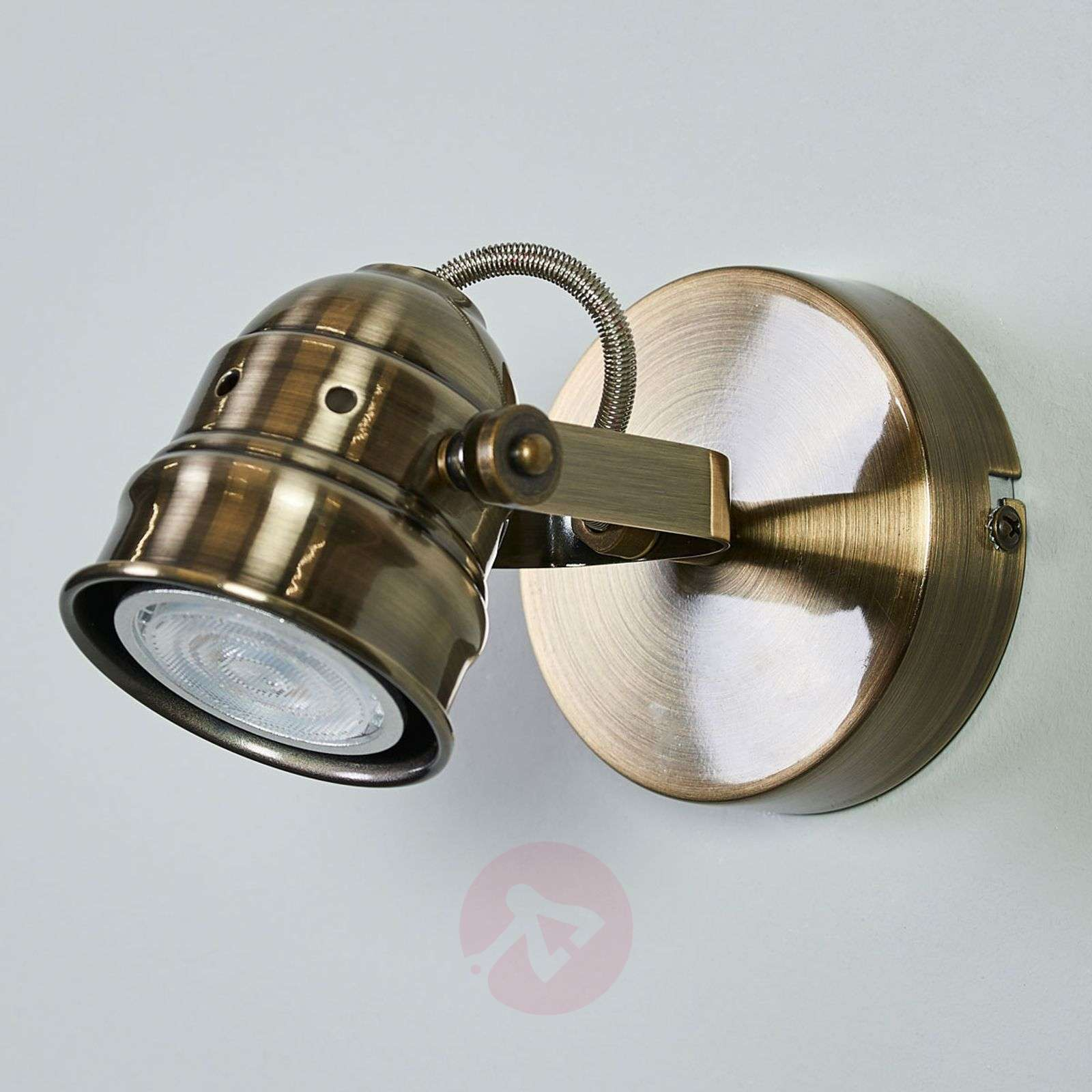 Antique-brass-coloured LED wall lamp Leonor-9639062-01