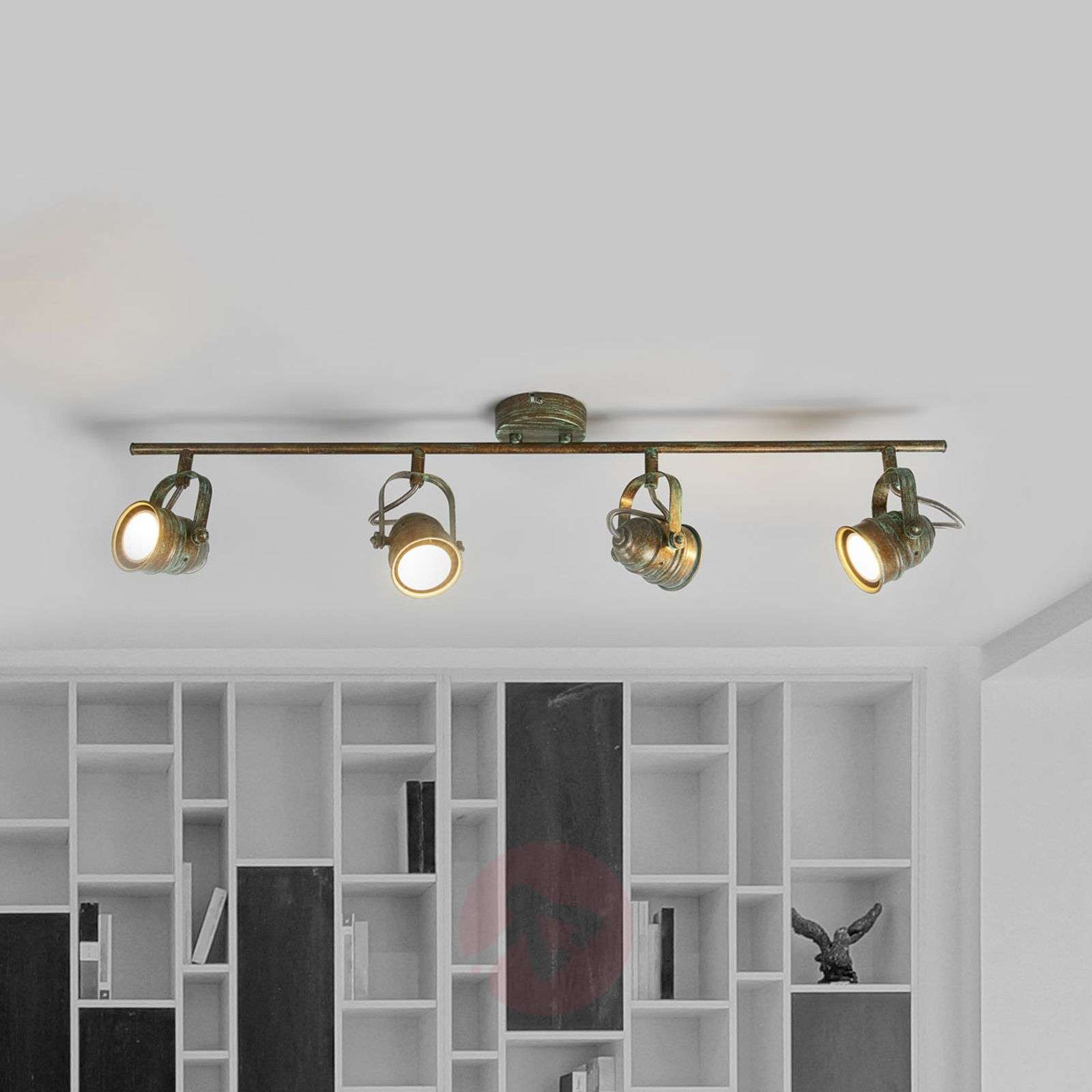 Antique-looking LED ceiling spotlight Leonor-9639071-01