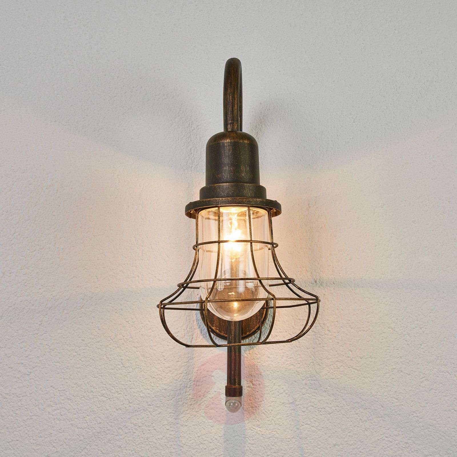 Antique outdoor wall lamp Bird with sensor-3006529-02