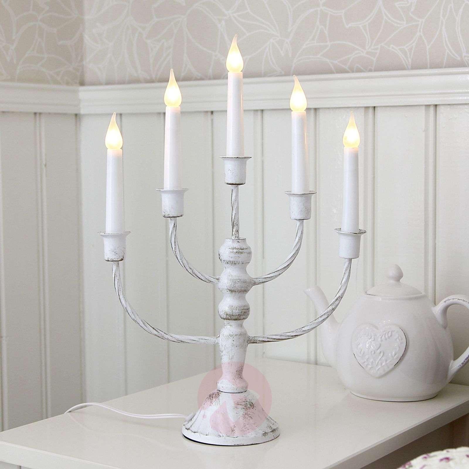 Antique white candleholder Romana, 5 lights-1522751-01