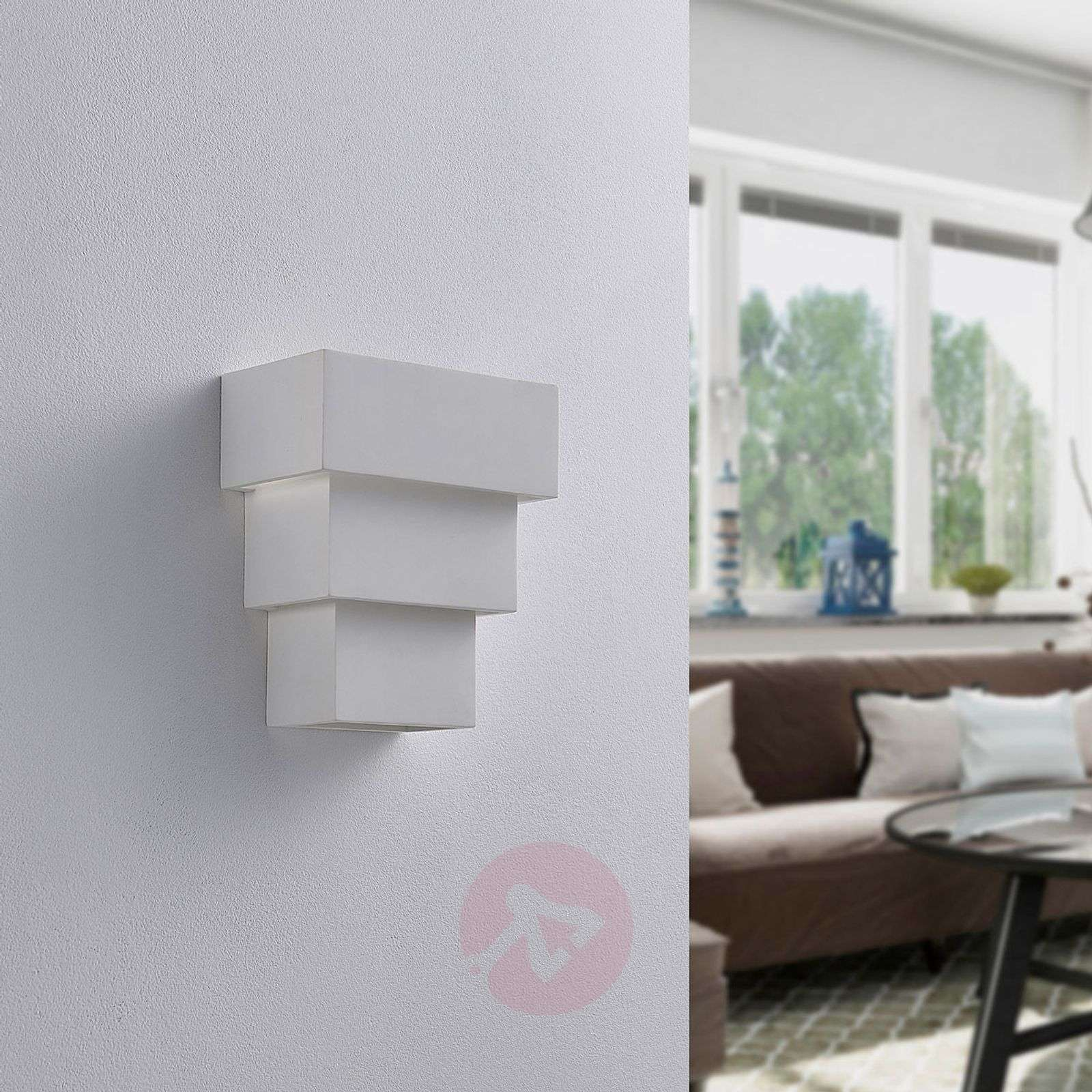 Antonella effective LED wall lamp, plaster-9621332-02