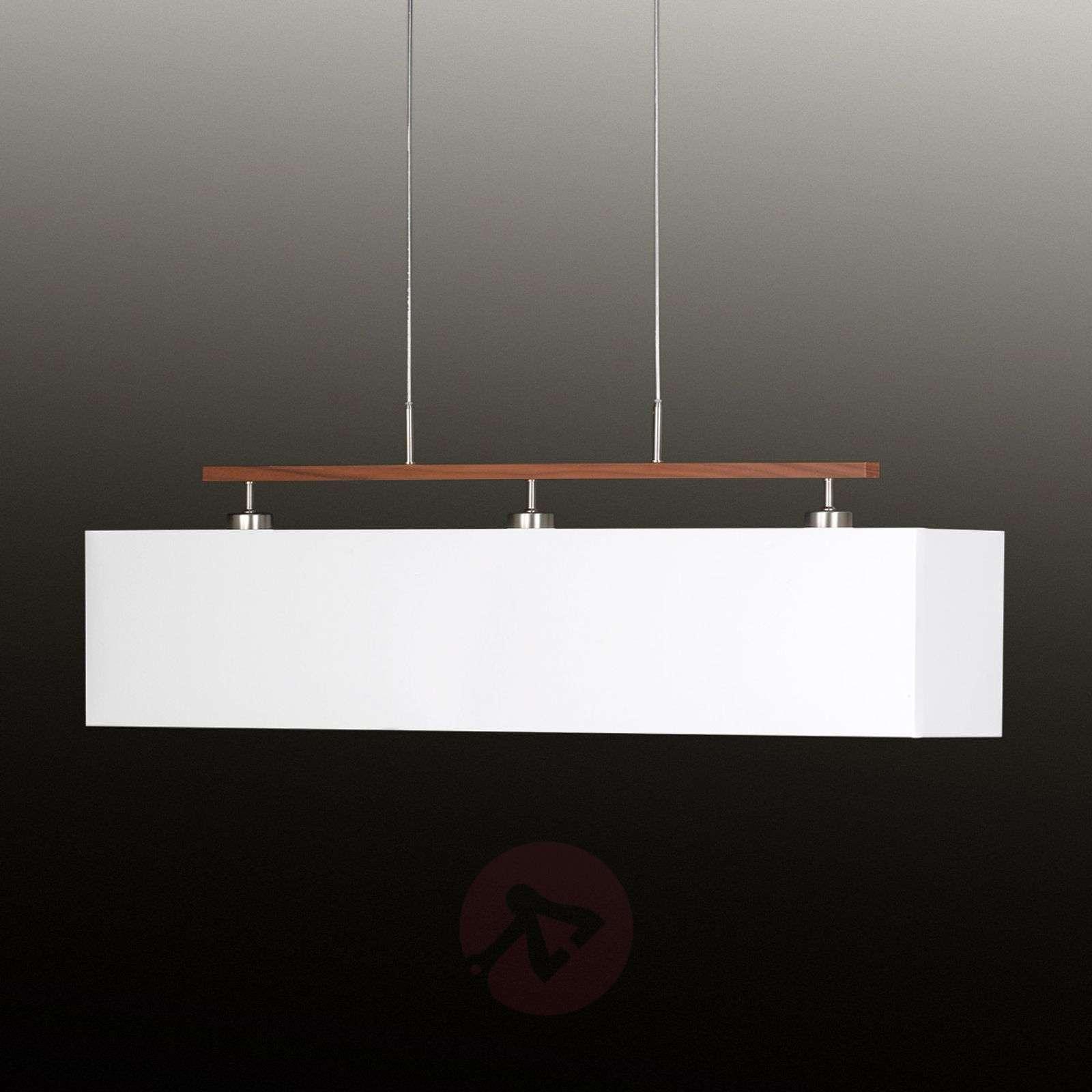Appealing textile pendant lamp Casta white-4581040-02