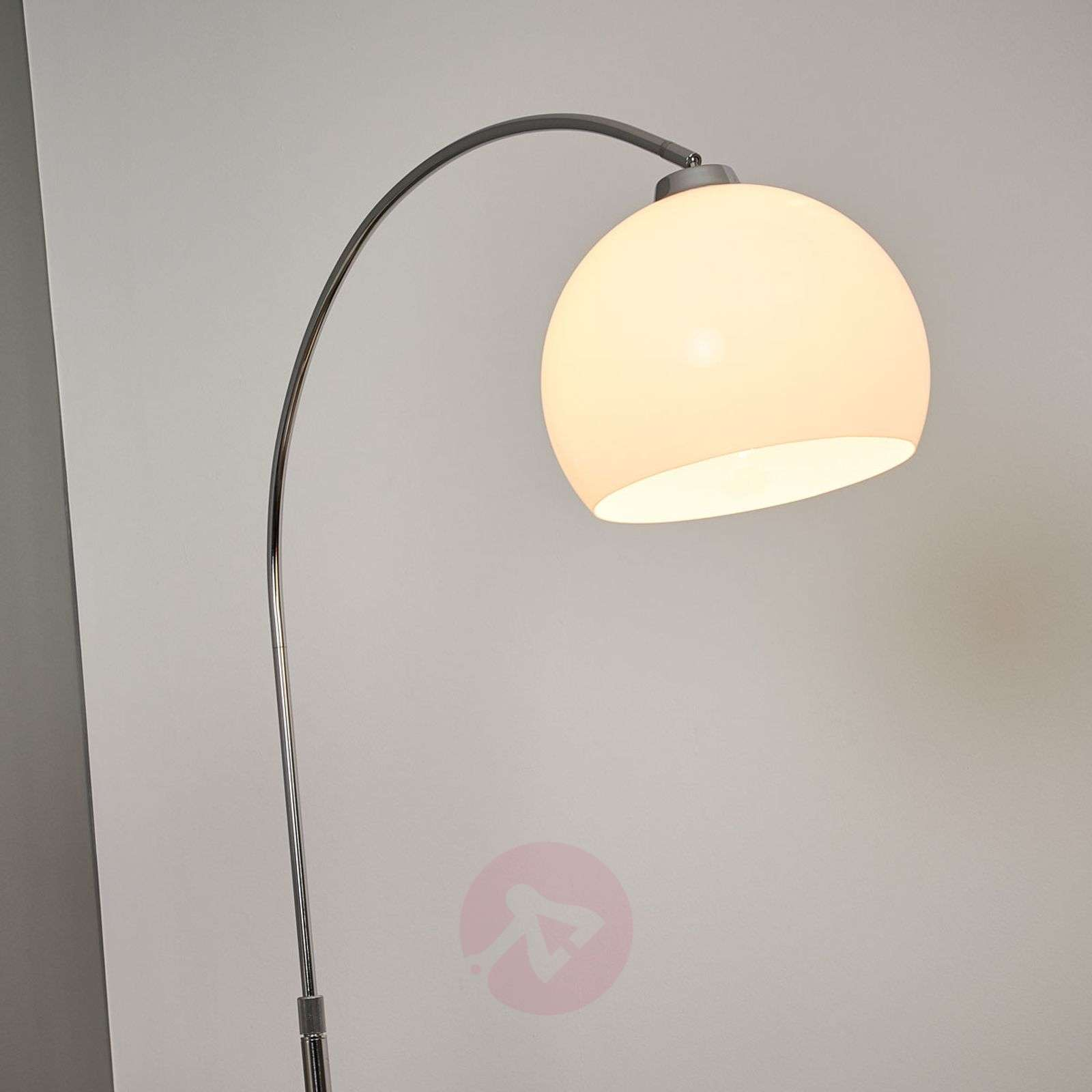 Arc Lamp Sveri Marble Base And White Lampshade Lights Ie