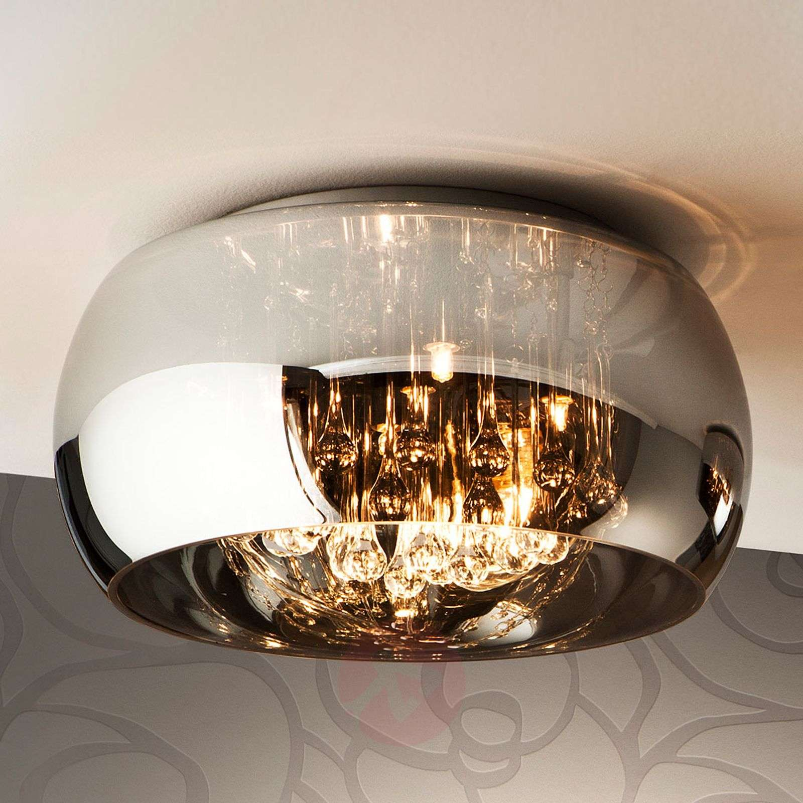 Argos Led Ceiling Light With Crystals