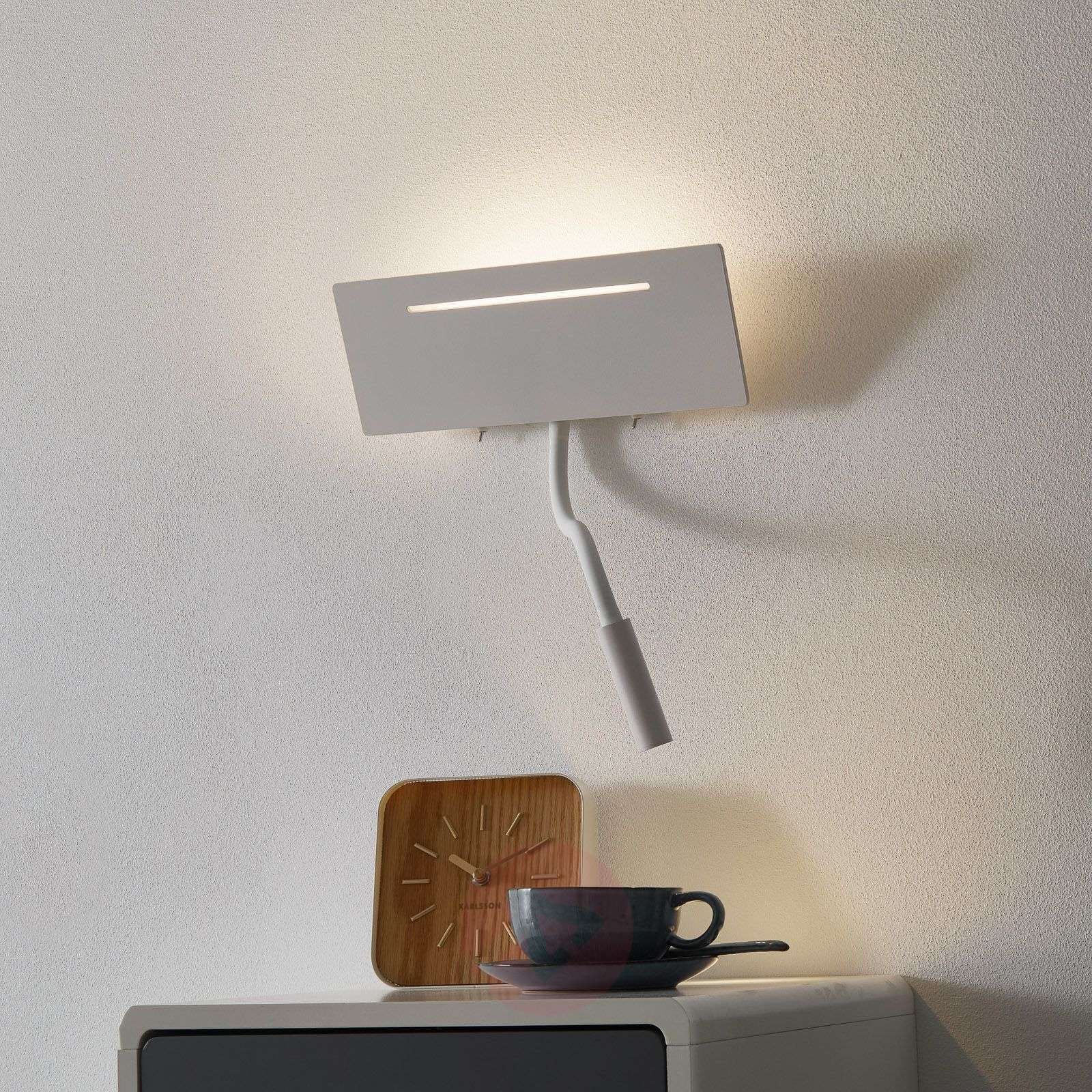 Ariel white LED wall lamp with reading light-1050147-01
