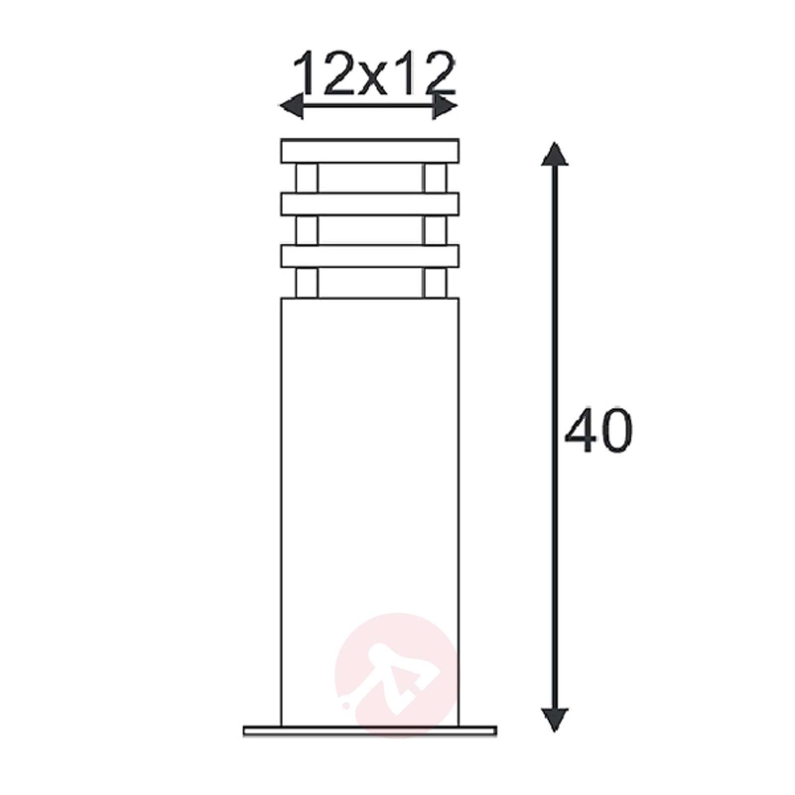 Arrock Sandstone Pillar Lamp, 40 cm-5504316-01