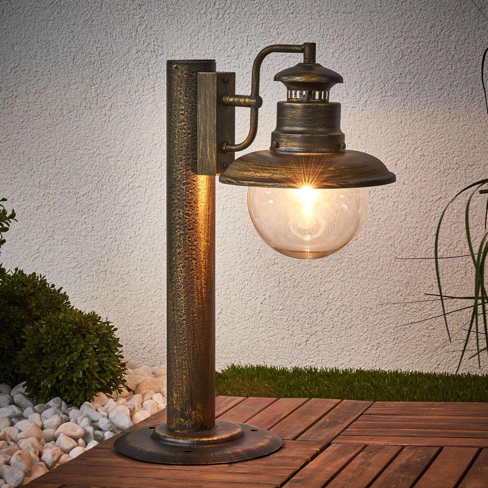 ARTU rustic pillar light, black-gold_1507154_1