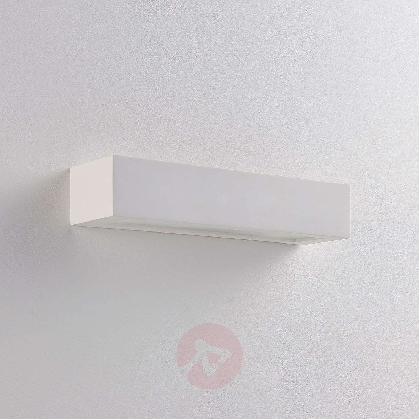 Arya LED wall light made of white plaster-9621322-01