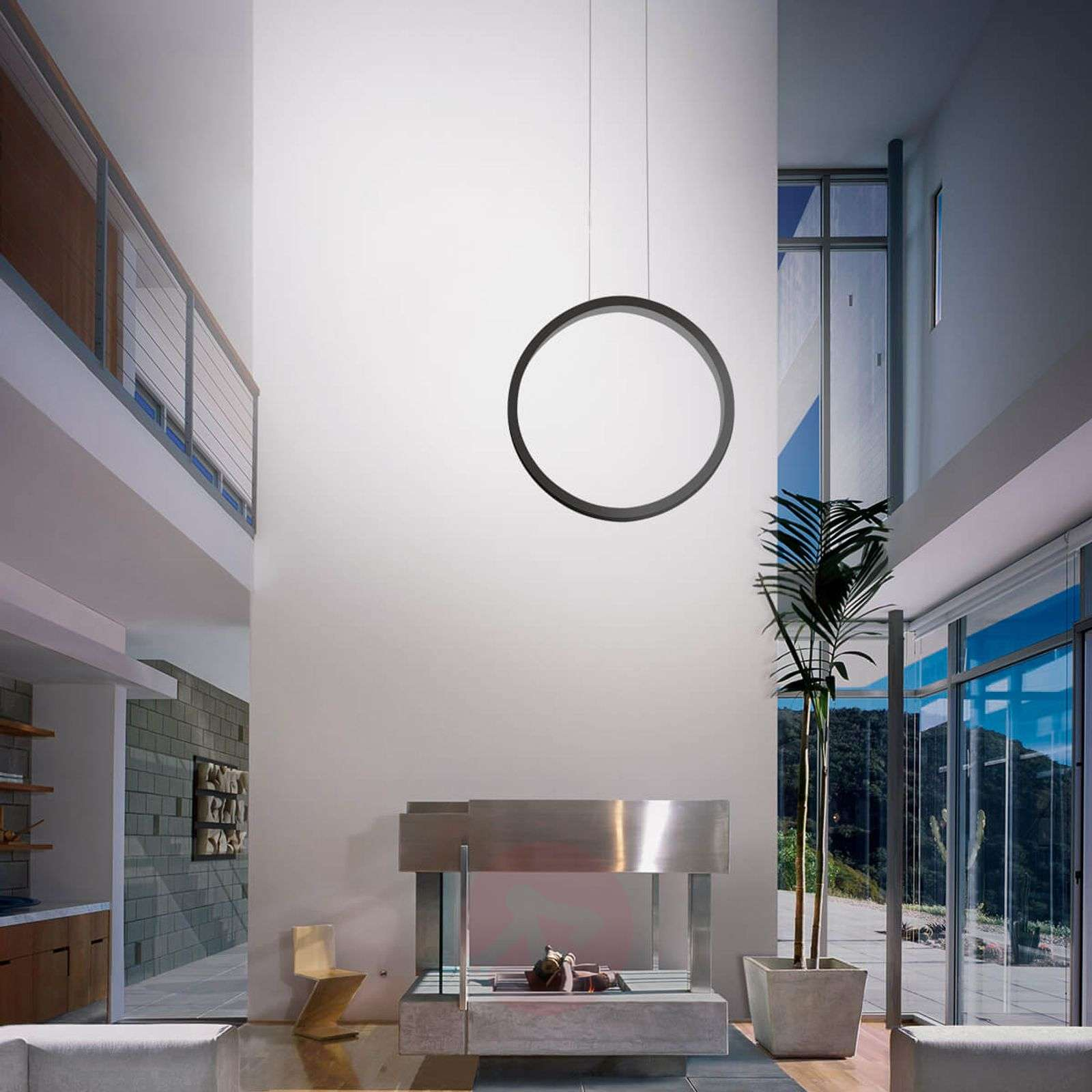 Assolo black LED hanging light, dimmable-2028028X-01